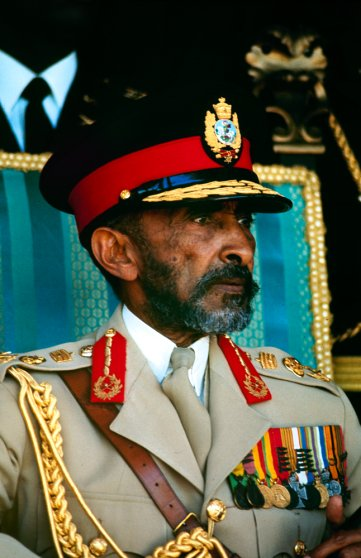 Emperor of Ethiopia Haile Selassie I during his historic visit to the Caribbean, April 1966.