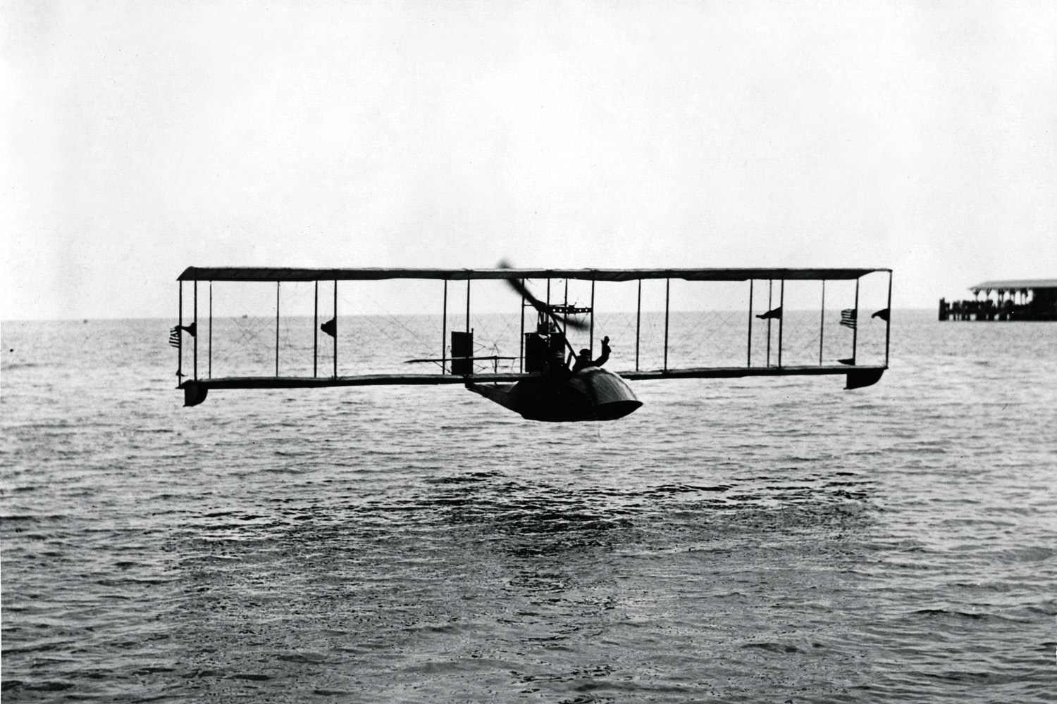 The first commercial flight in history took place across Florida's Tampa Bay on Jan. 1, 1914—and the ticket cost $400