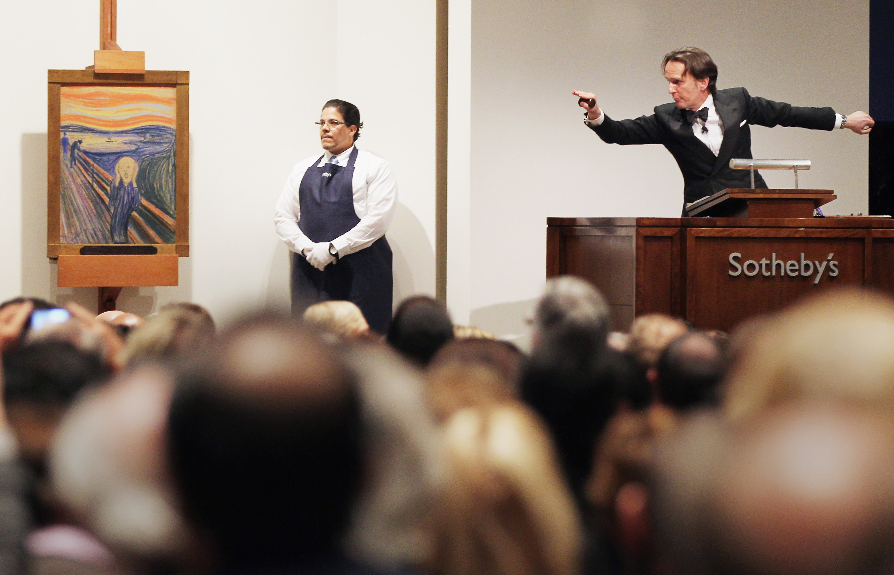 Edvard Munch's 'The Scream' is auctioned at Sotheby's May 2012 in New York City.