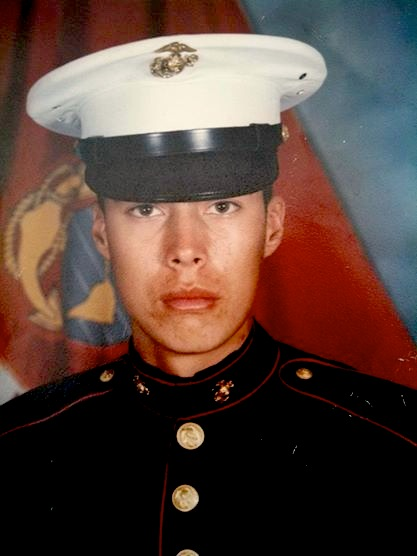 Yanez as a Marine 20 years ago.