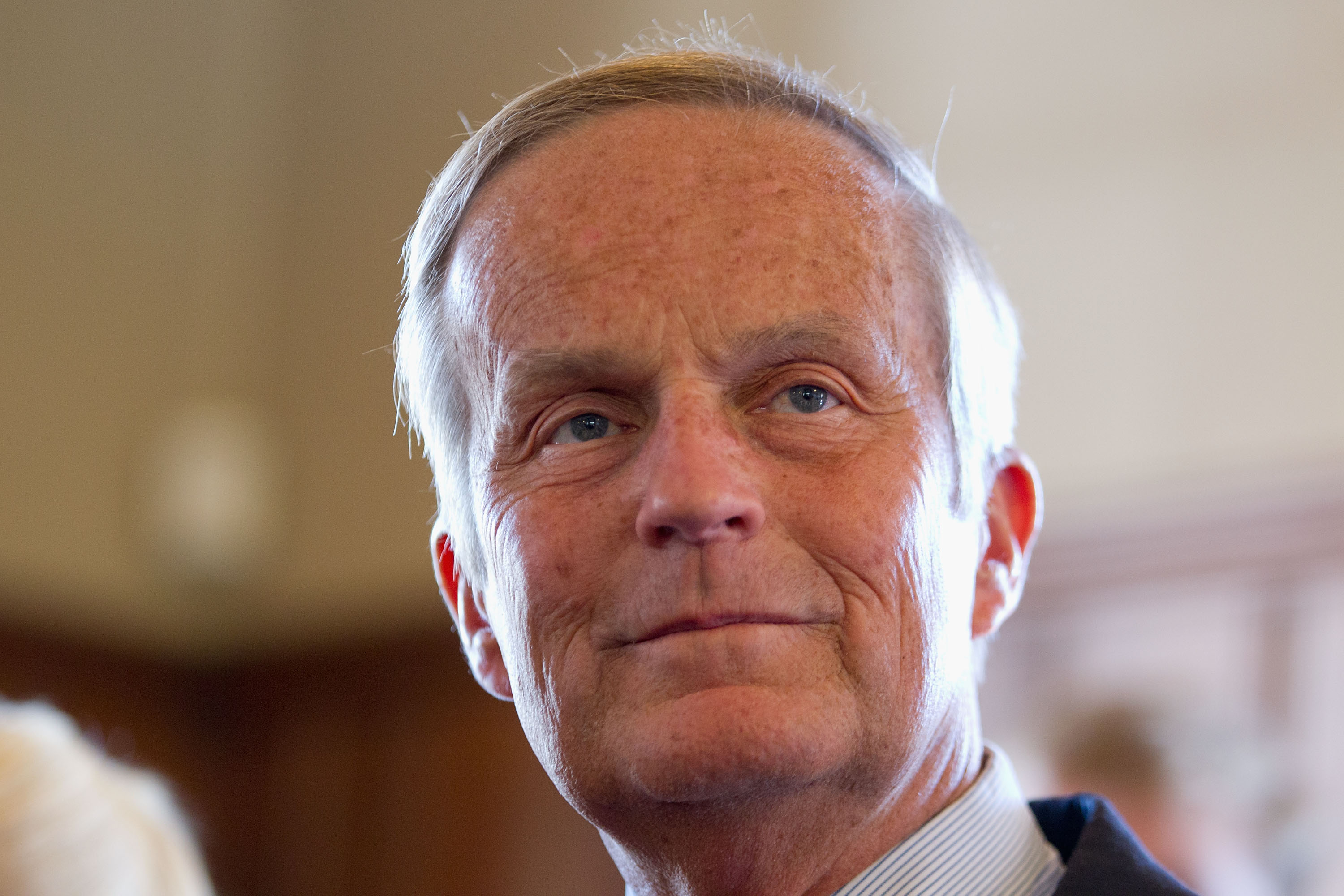 Then-U.S. Rep. Todd Akin (R-MO)) address the media on September 24, 2012 in Kirkwood, Missouri.  (Whitney Curtis--Getty Images)