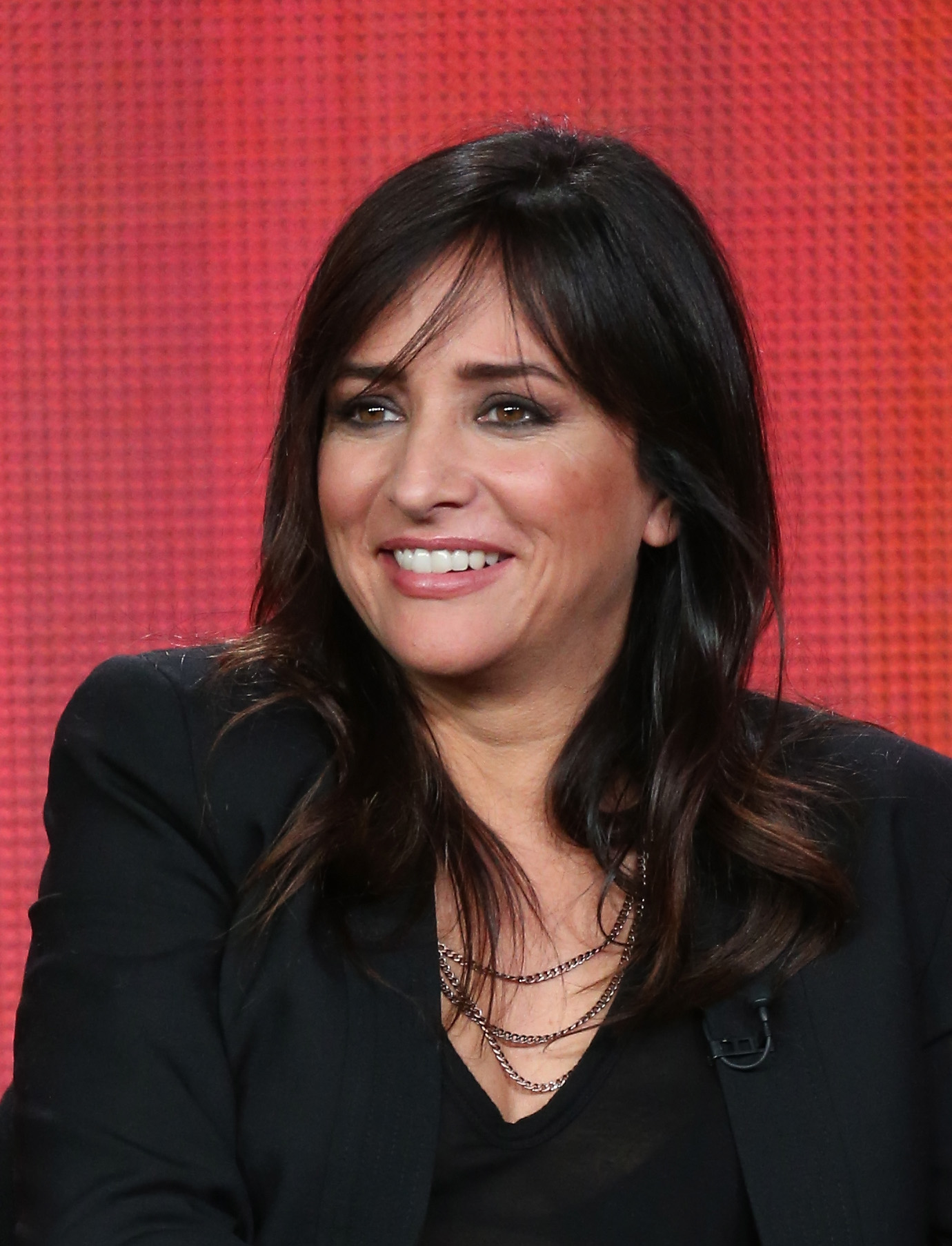 Actress Pamela Adlon of  Californication  speaks onstage during the Showtime portion of the 2013 Winter TCA Tour at Langham Hotel on January 12, 2013 in Pasadena, California.