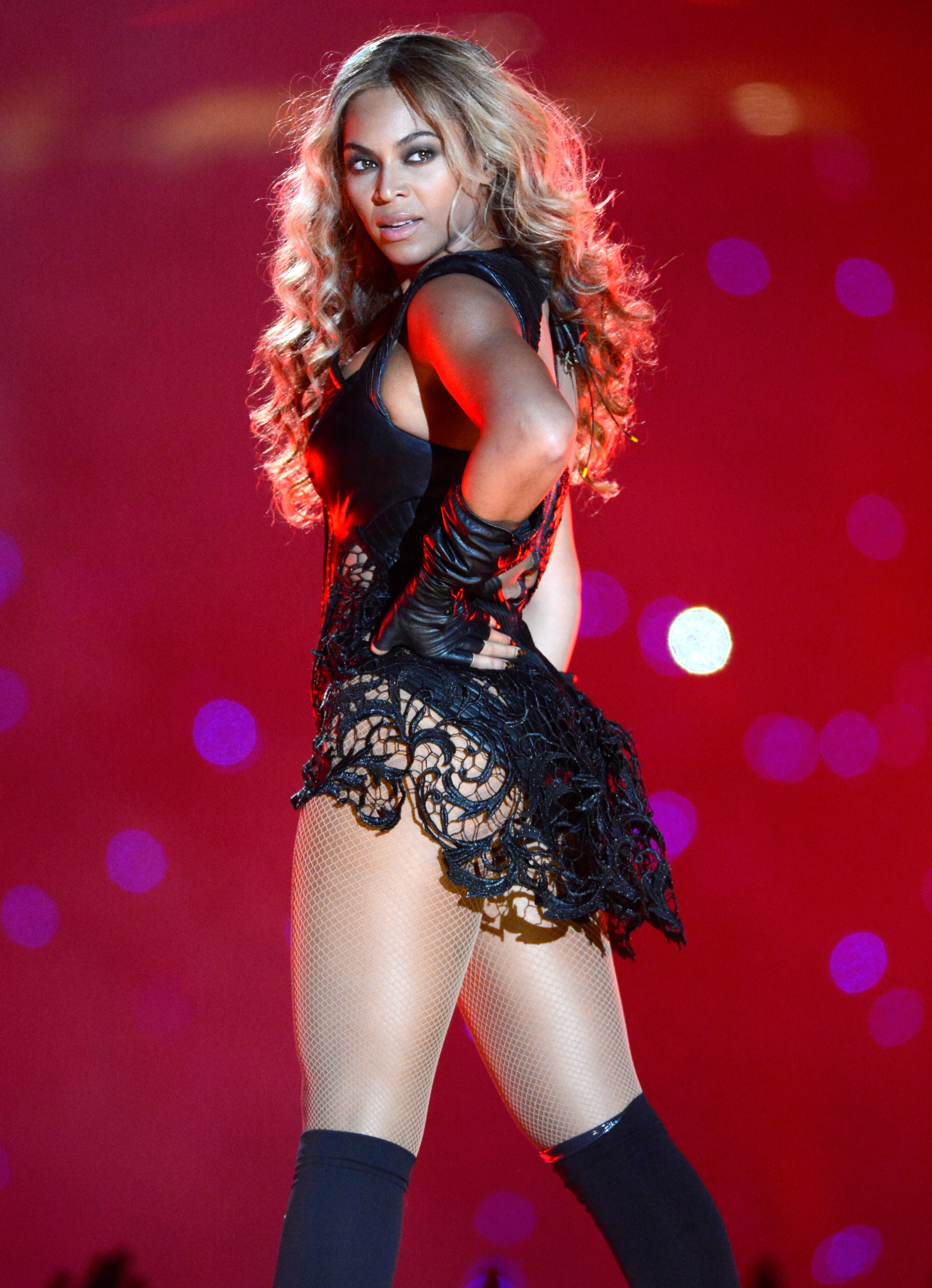 Beyonce performs during the Pepsi Super Bowl XLVII Halftime Show at Mercedes-Benz Superdome on February 3, 2013 in New Orleans.