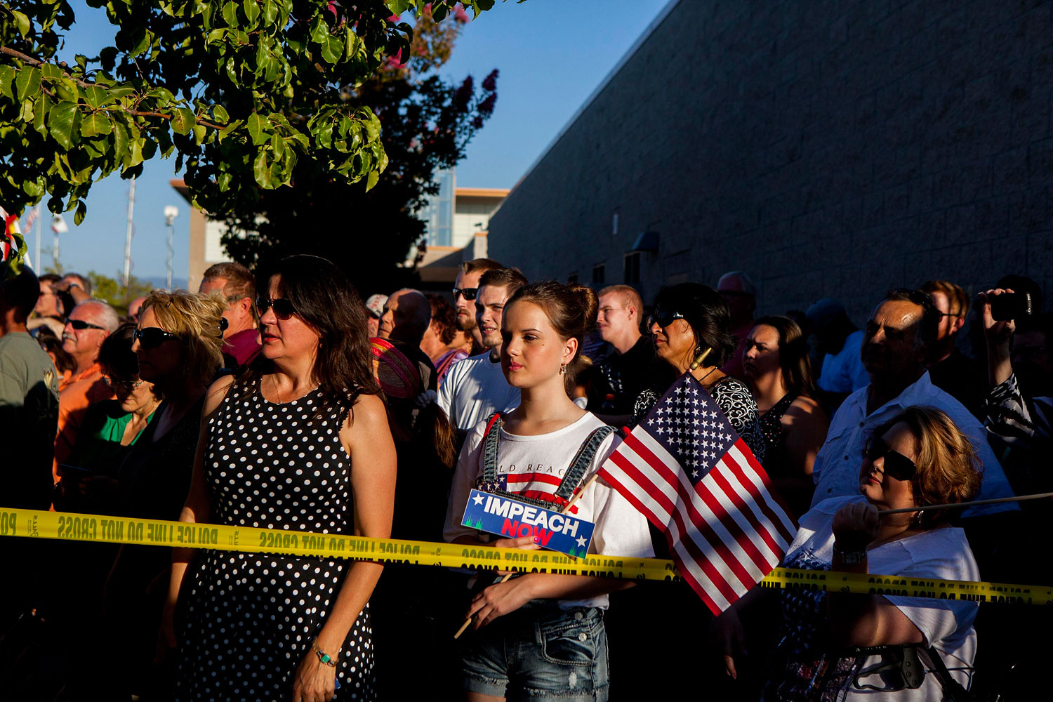 Residents and protestors attend a town hall meeting to discuss the processing of undocumented immigrants in Murrieta, Calif. July 2, 2014.
