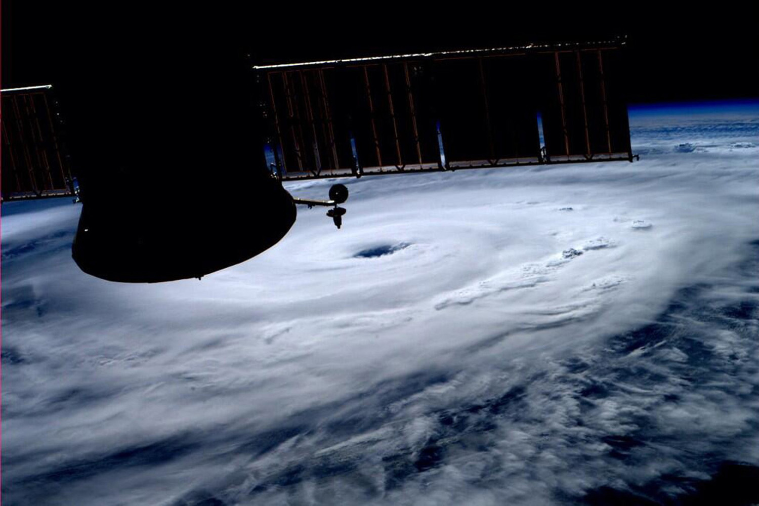 Jul. 3, 2014. The eye of Hurricane Arthur is seen over the Atlantic in this photo taken from the International Space Station.