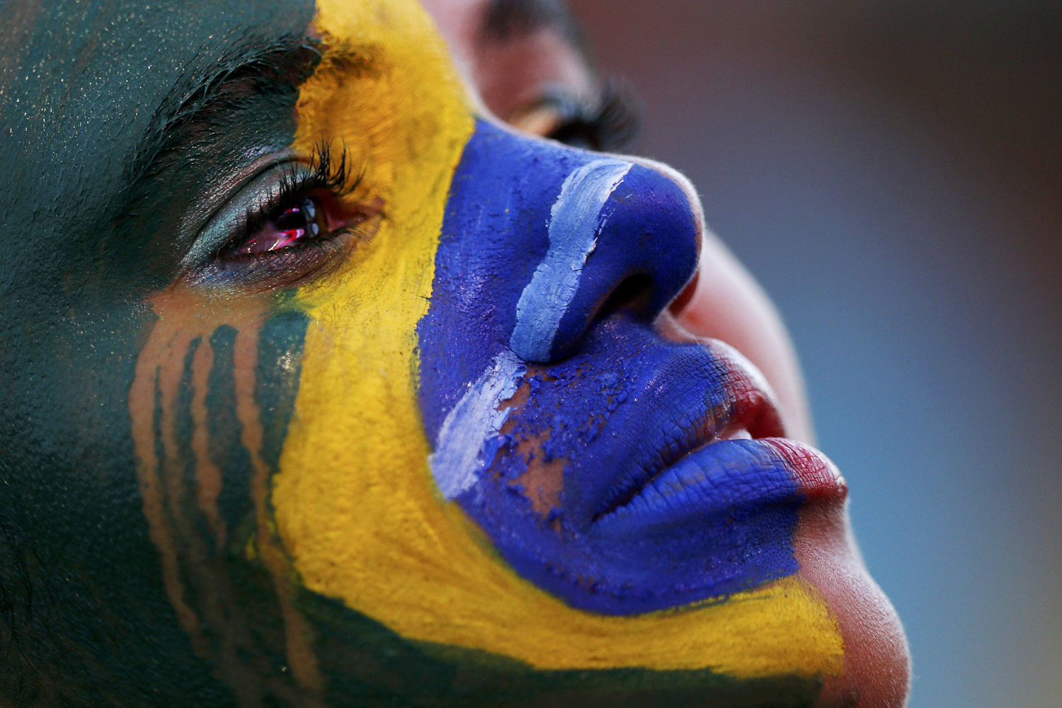 Jul. 8, 2014. A Brazil fan cries as she watches the 2014 World Cup semi-final between Brazil and Germany at a fan area in Brasilia. Germany scored five goals in 18 astonishing first-half minutes on their way to a 7-1 semi-final mauling of Brazil.