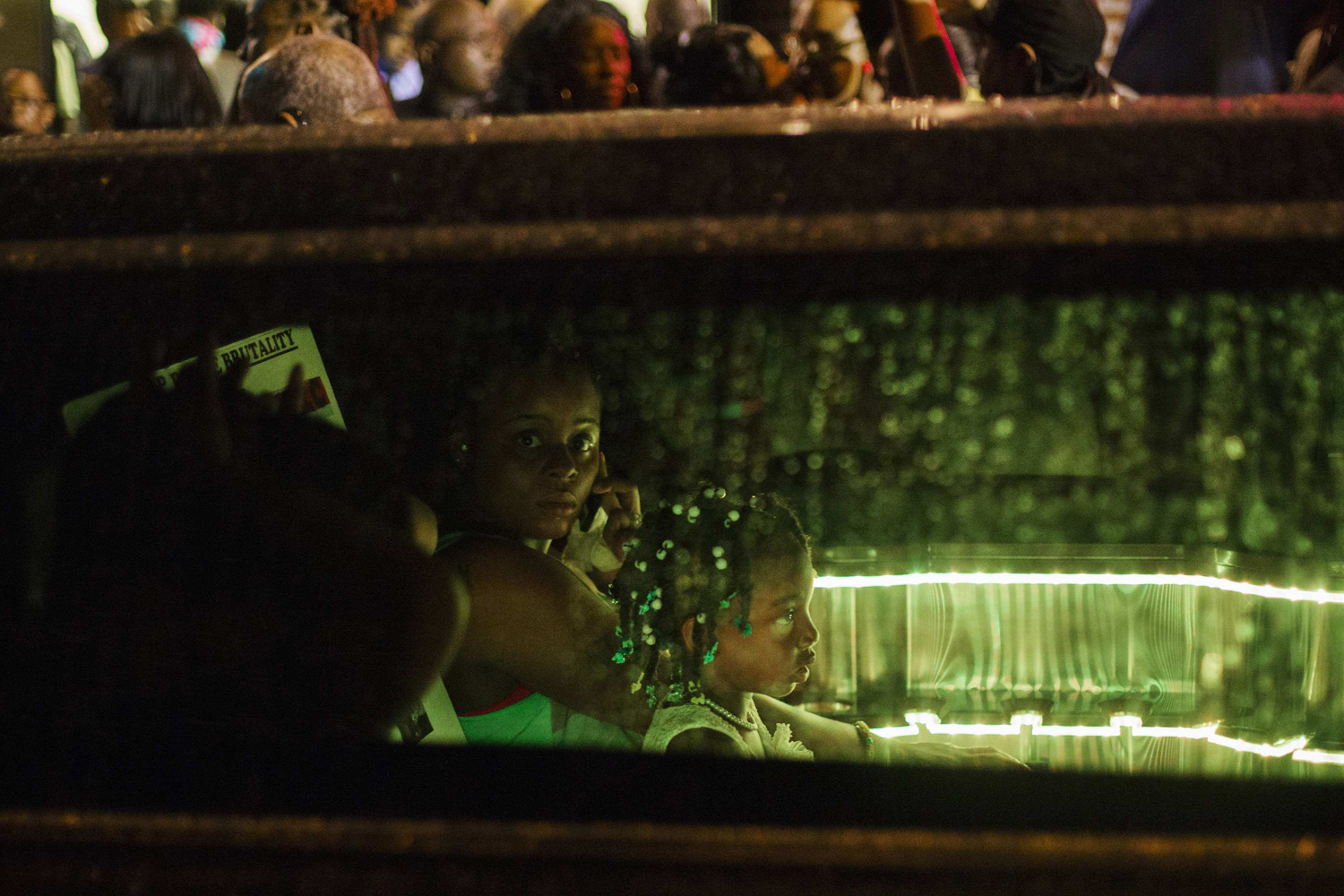 Jul. 23, 2014. Mourners wait in a limousine after attending the funeral of Eric Garner in New York.