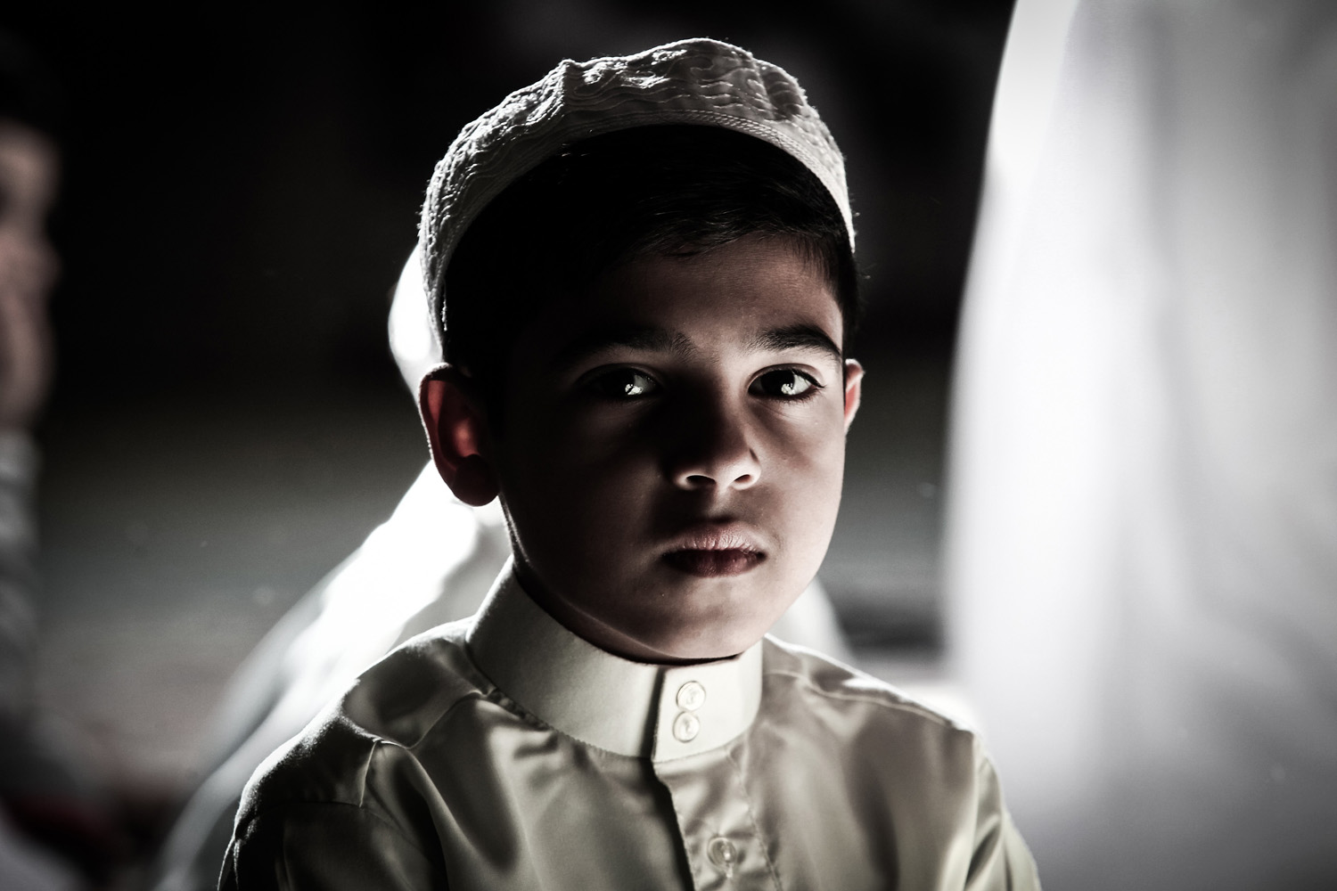 Jul. 20, 2014. A young boy In preparation for Laylat al-Qadr during the holy month of Ramadan when the Koran holy book was revealed to Prophet Mohammed by archangel Gabriel.