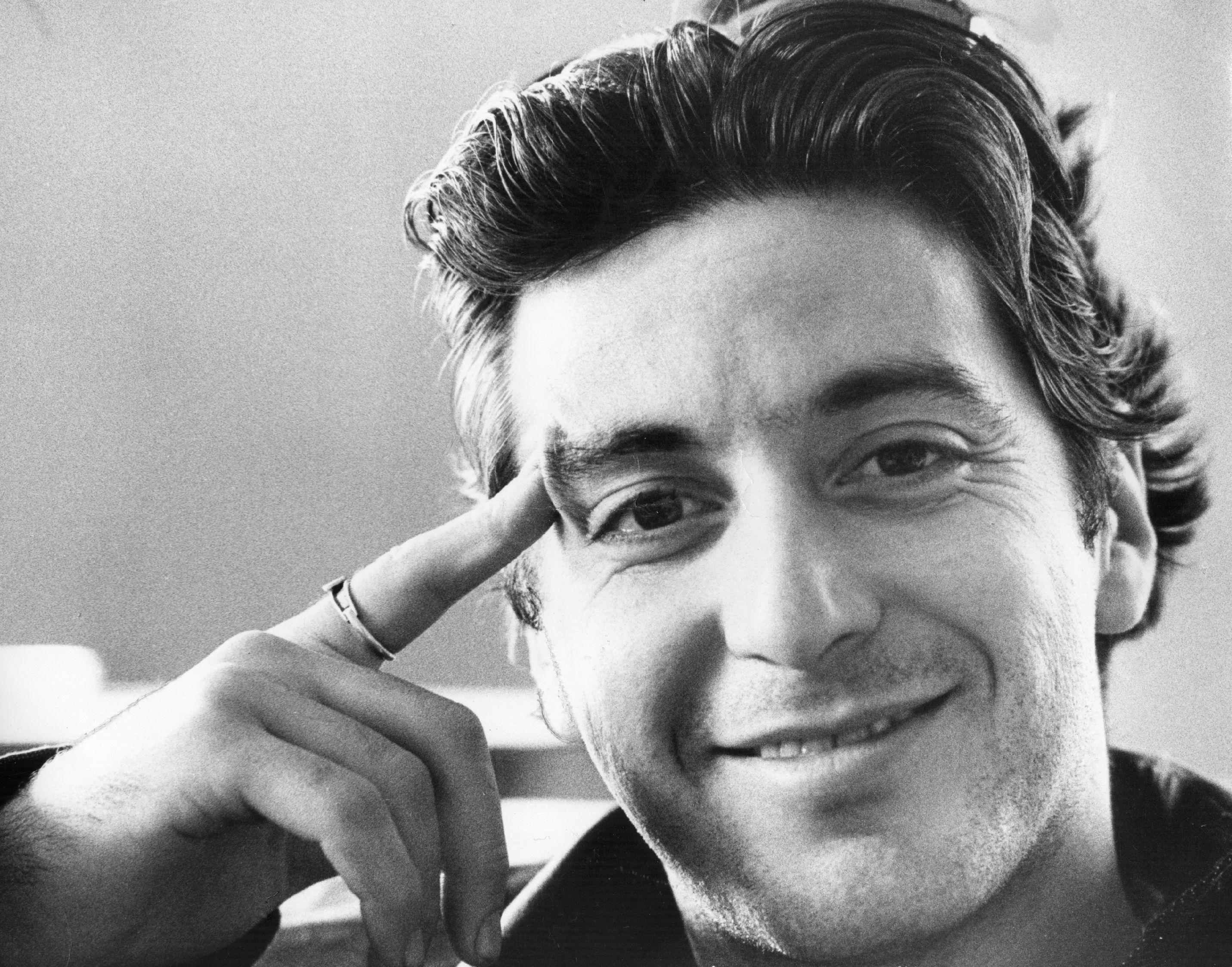 American actor Al Pacino, circa 1972.