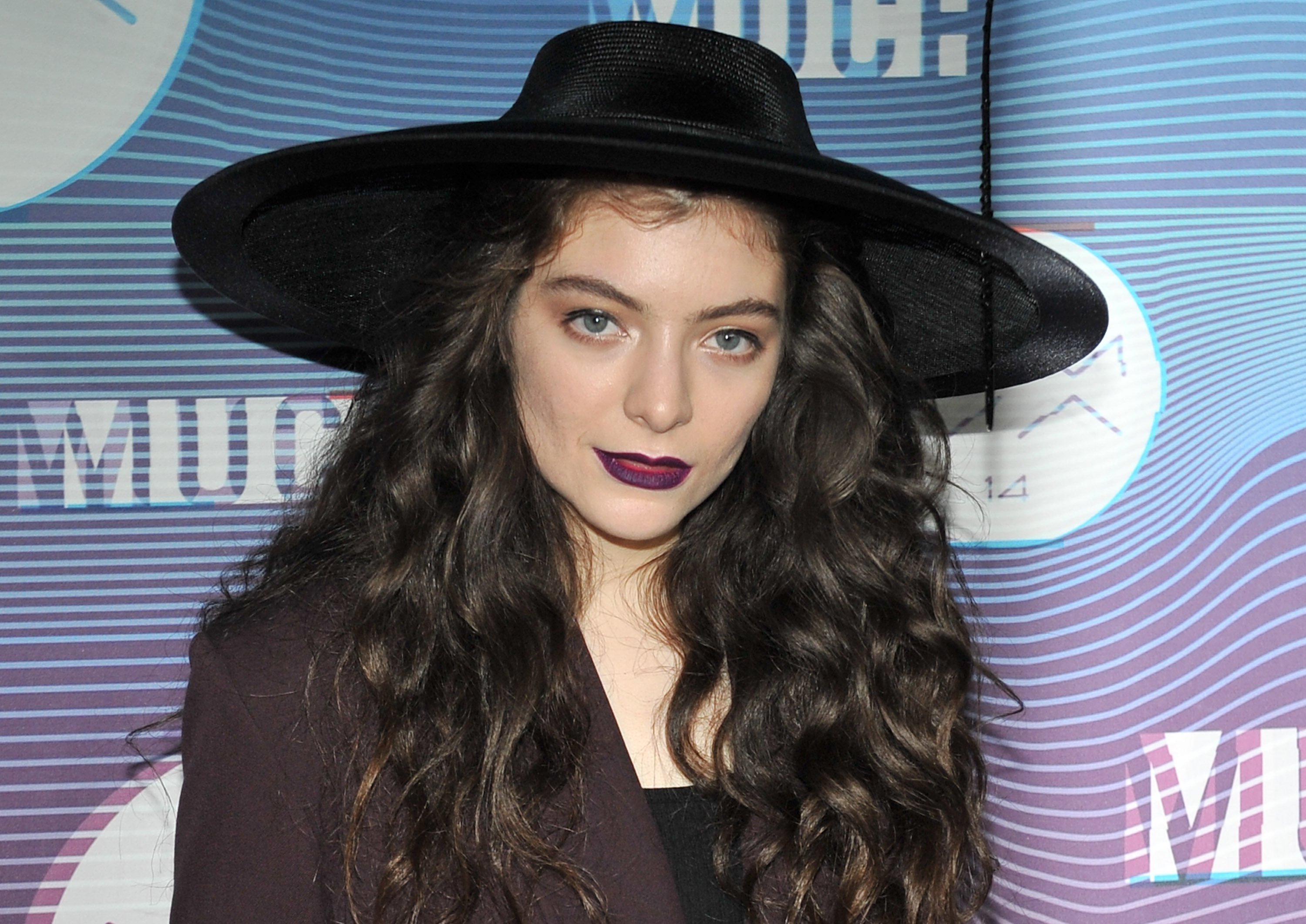 Singer-songwriter Lorde poses in the press room at the 2014 MuchMusic Video Awards at MuchMusic HQ