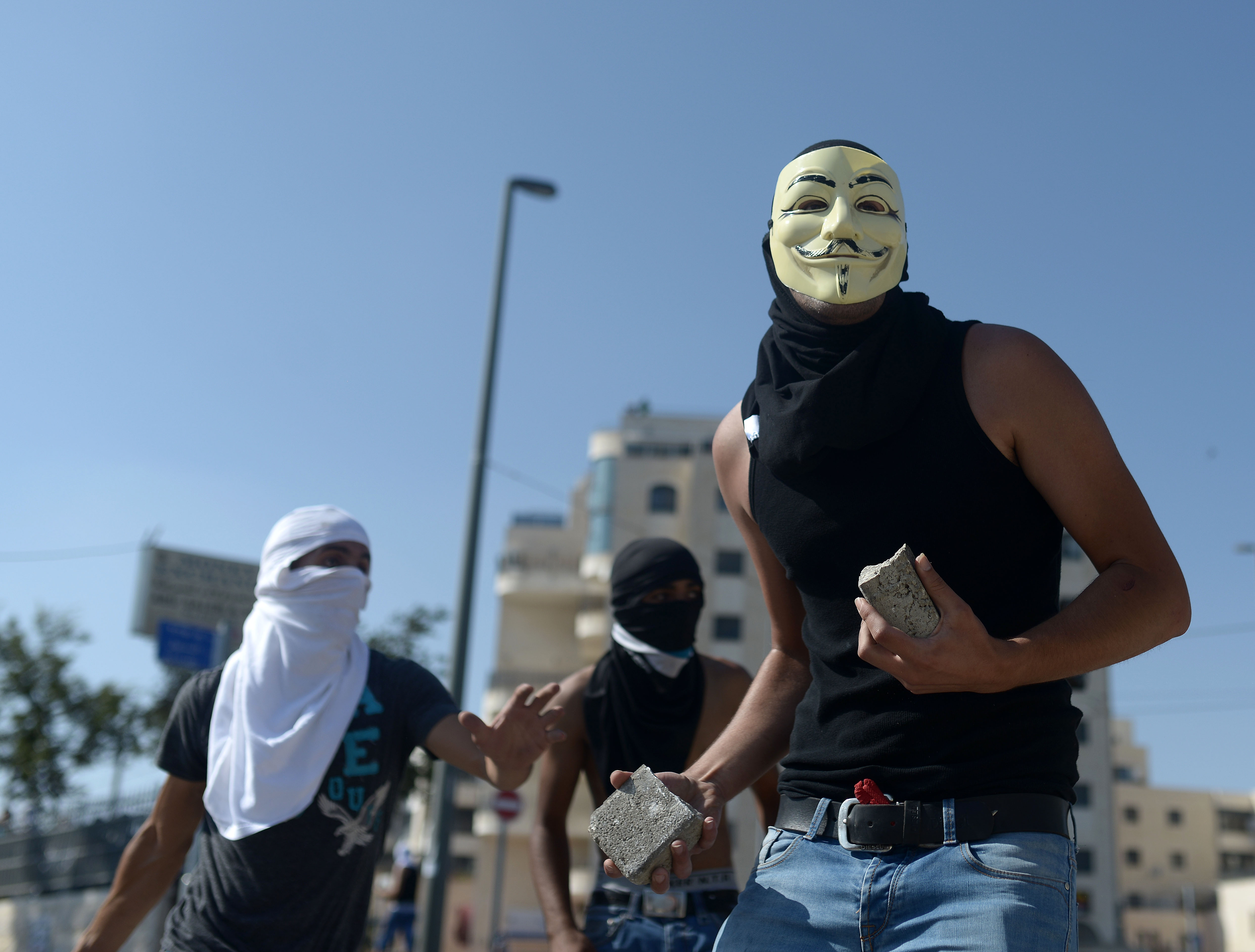Clashes occurred between Israeli security forces and Palestinian youths during the funeral ceremony held for Muhammad Abu Kdear in Jerusalem on July 4, 2014.