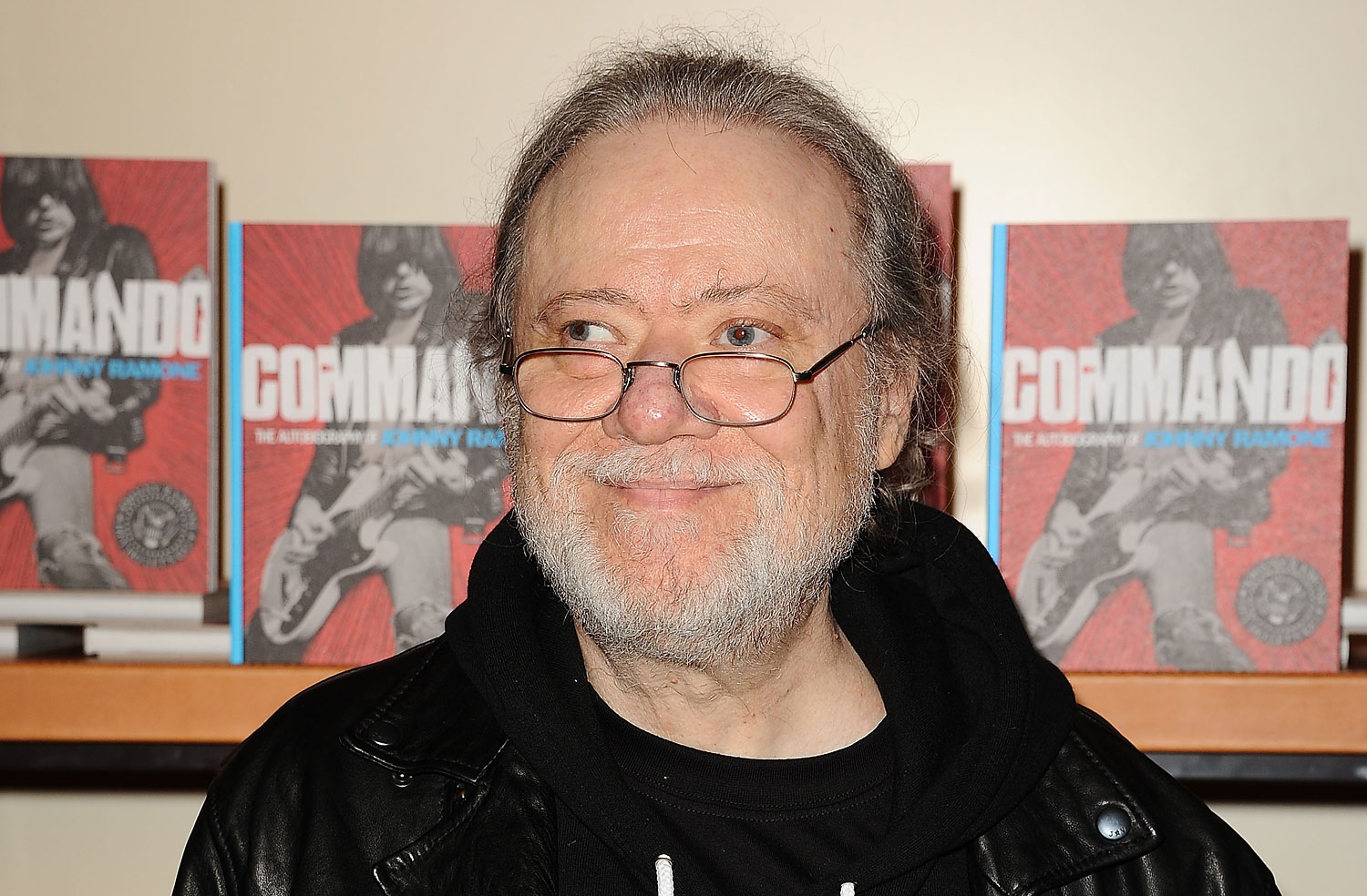 Tommy Ramone attends the 'Commando: The Autobiography of Johnny Ramone' book party at BookMarc on April 27, 2012 in Los Angeles.