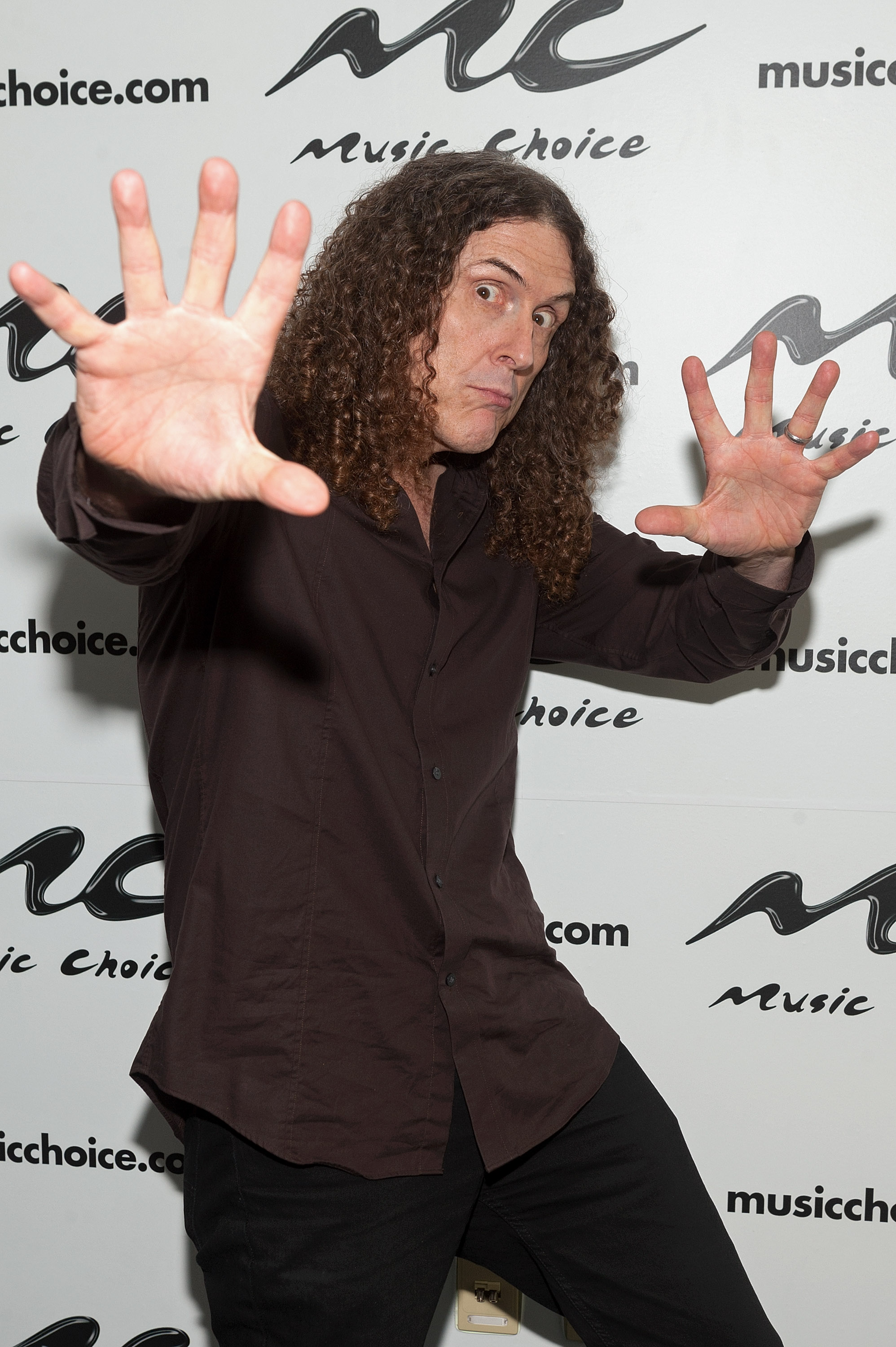 Weird Al  Yankovic visits Music Choice's  You & A  on July 14, 2014 in New York City.