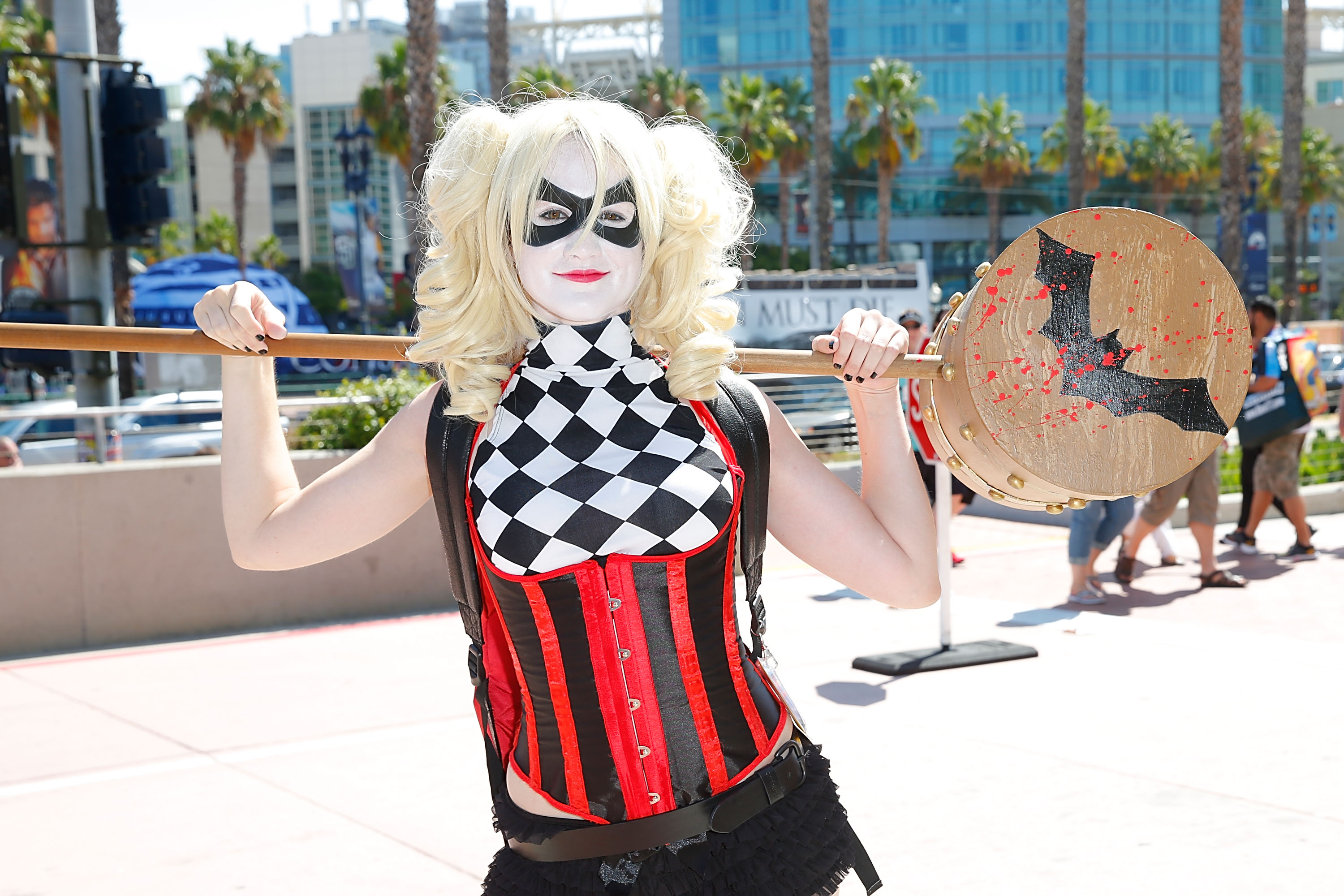 A costumed guest attends Comic-Con International 2014 - Day 1 on July 24, 2014 in San Diego, California.