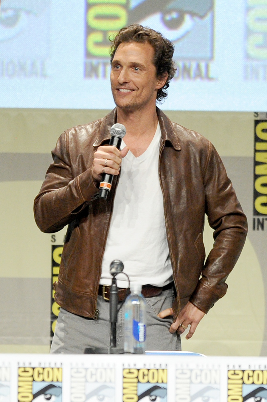 Actor Matthew McConaughey attends the Paramount Studios presentation during Comic-Con International 2014 at the San Diego Convention Center on July 24, 2014 in San Diego, Calif.