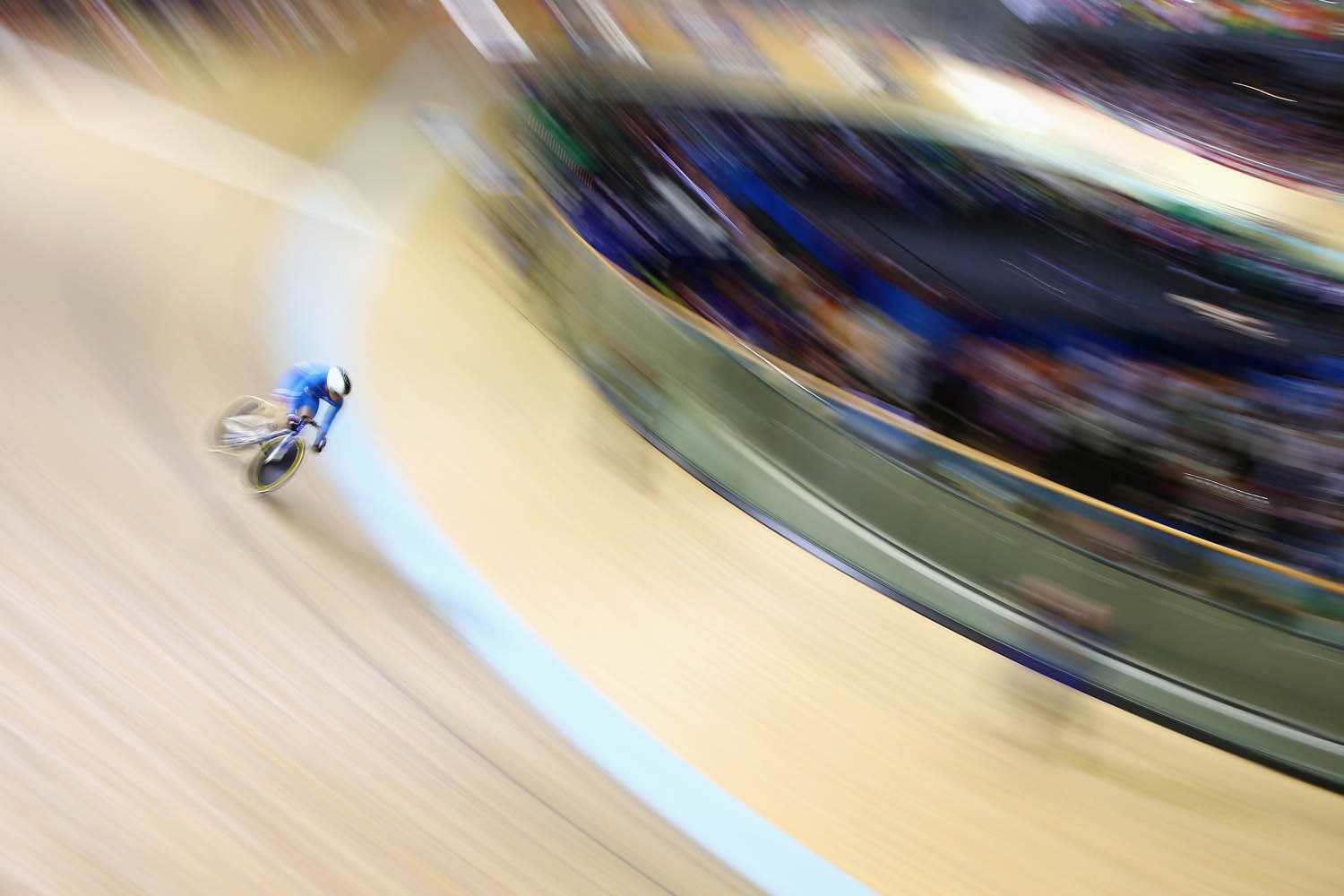 Jul. 26, 2014. Eleanor Richardson of Scotland competes in the women's sprint qualifying at Sir Chris Hoy Velodrome during day three of the Glasgow 2014 Commonwealth Games in Glasgow, United Kingdom.