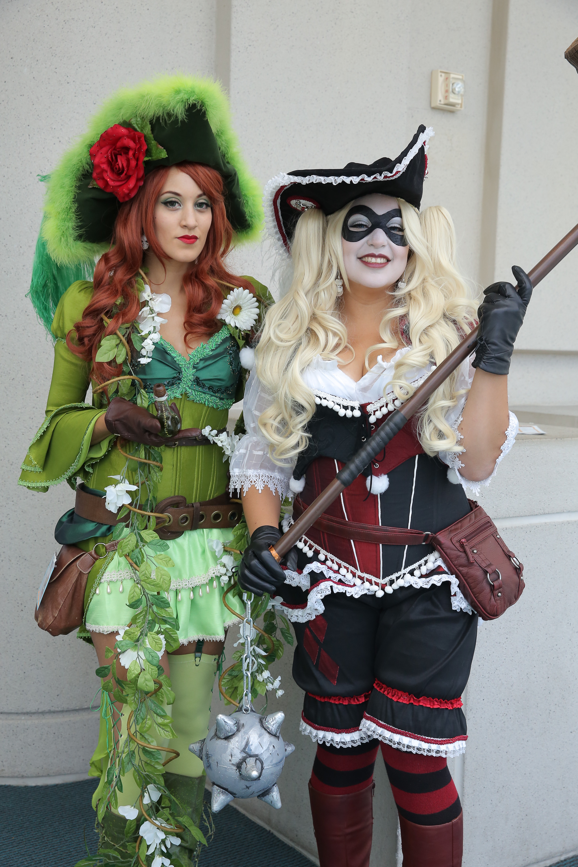 Costumed fans attend Comic-Con International on July 26, 2014 in San Diego.