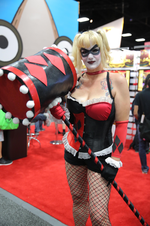 A costumed fan attends Comic-Con International on July 26, 2014 in San Diego.