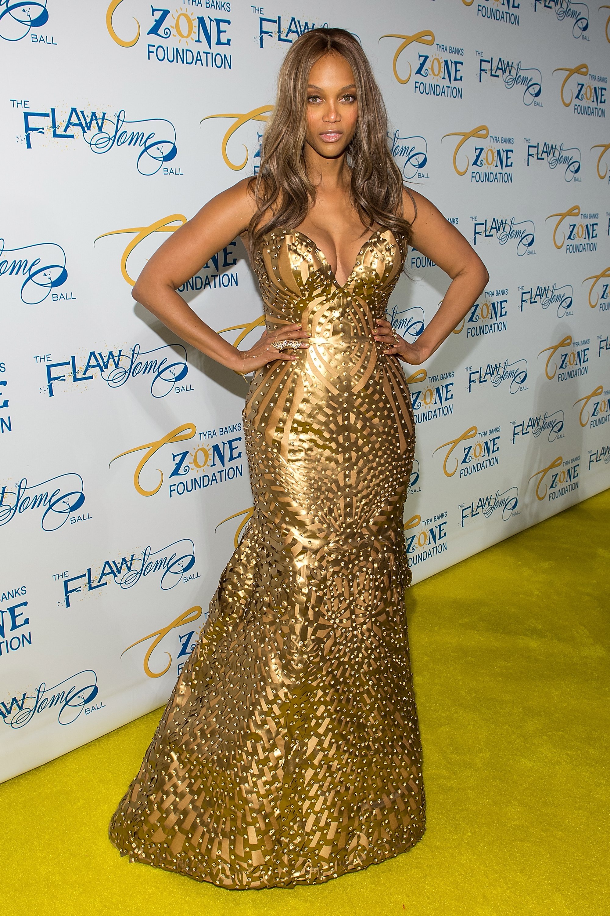 Model Tyra Banks attends Tyra Banks' Flawsome Ball 2014 at Cipriani Wall Street on May 6, 2014 in New York City.