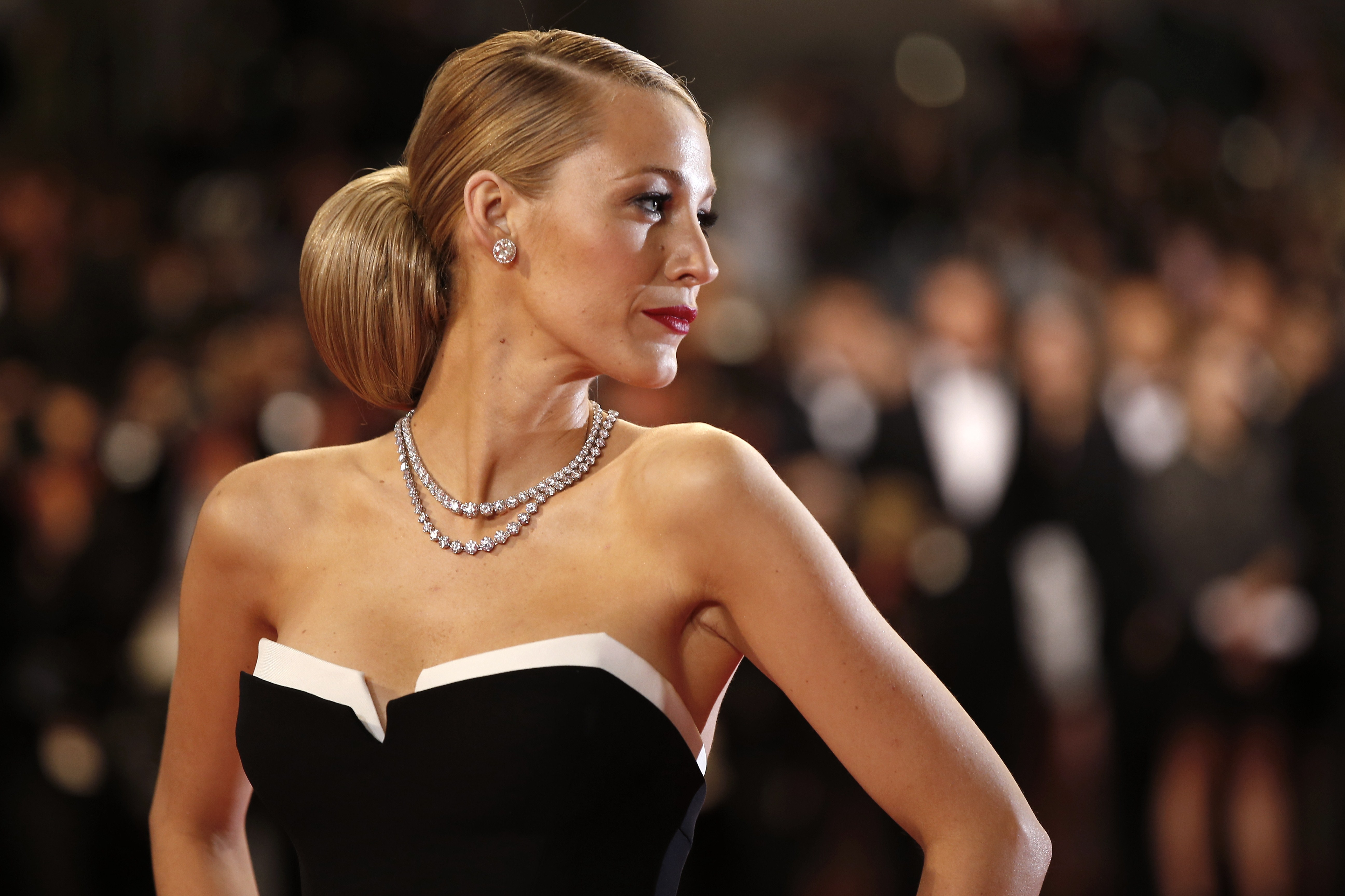 US actress Blake Lively poses as she arrives for the screening of the film  Captives  at the 67th edition of the Cannes Film Festival in Cannes, southern France, on May 16, 2014. VALERY HACHE--AFP/Getty Images