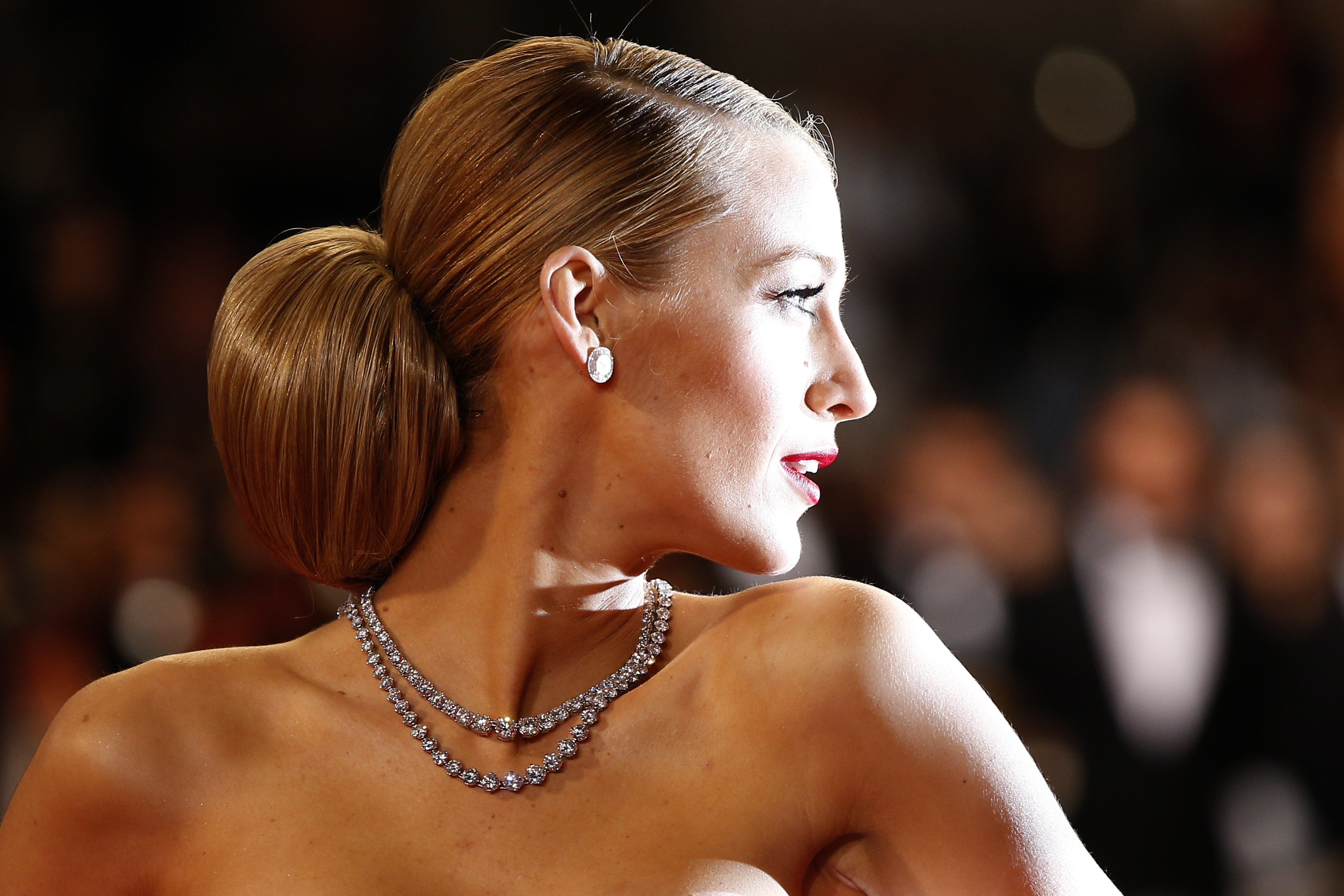 Blake Lively arrives for the screening of the film  Captives  at the 67th edition of the Cannes Film Festival in Cannes, southern France, on May 16, 201.