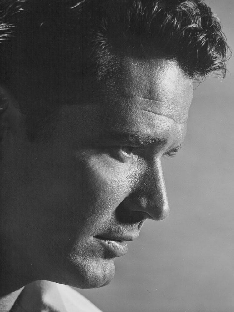 James Garner in an early headshot, circa 1955-1965.