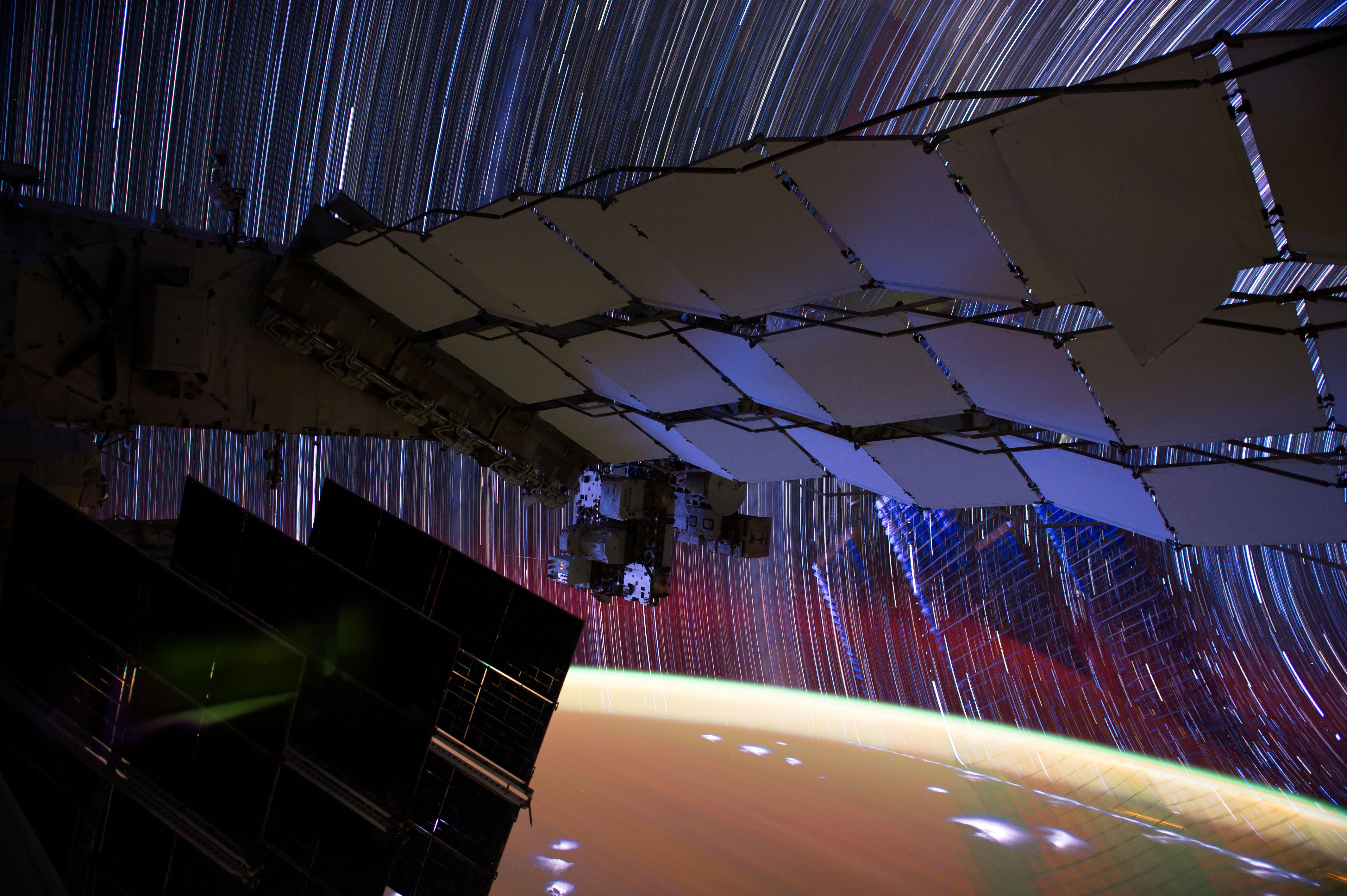 Star trail composite