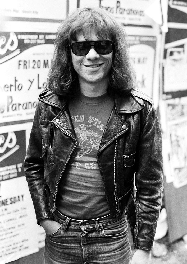 Tommy Ramone in Liverpool, May 19, 1977.