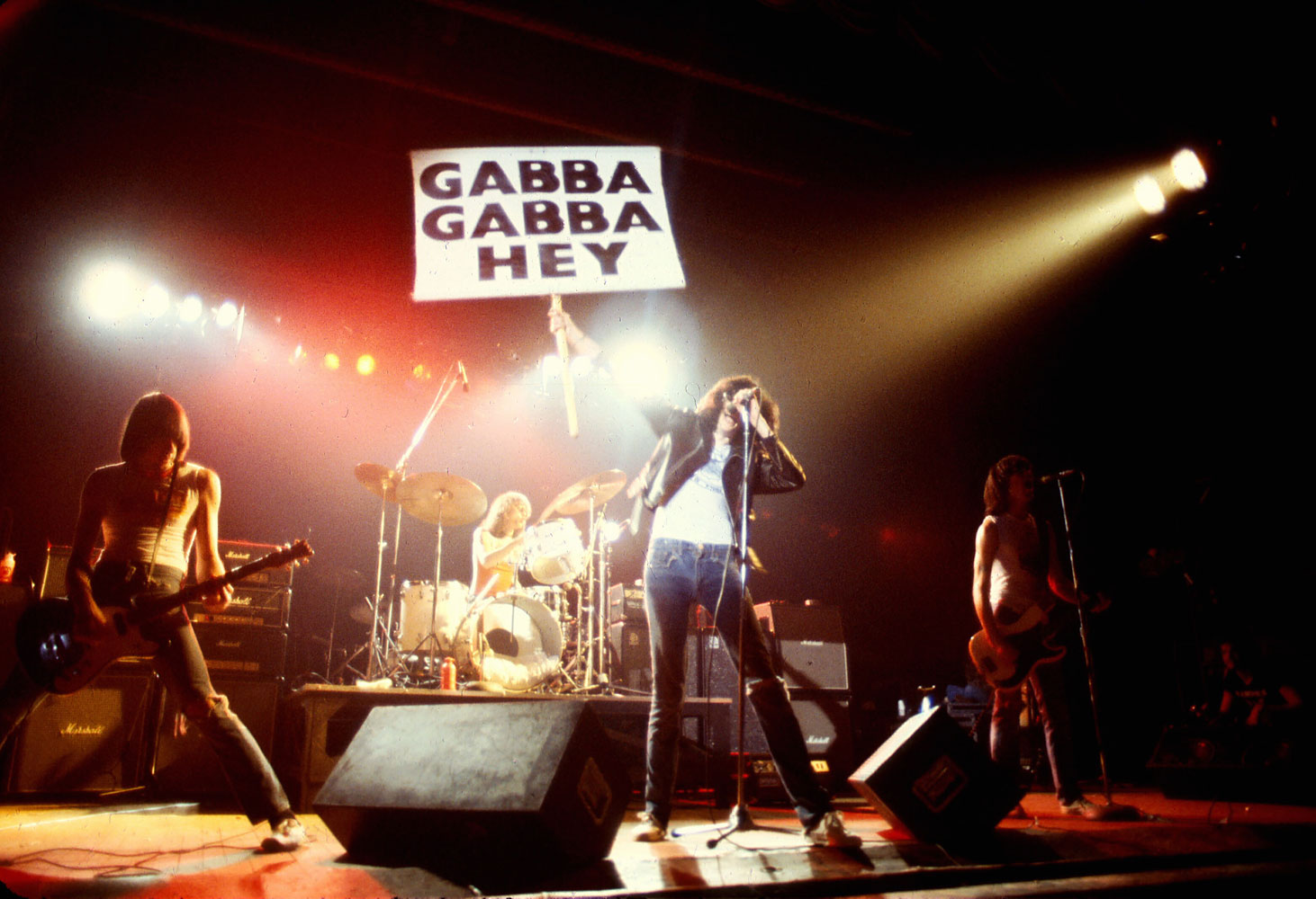 The Ramones performing at CBGB, 1978.
