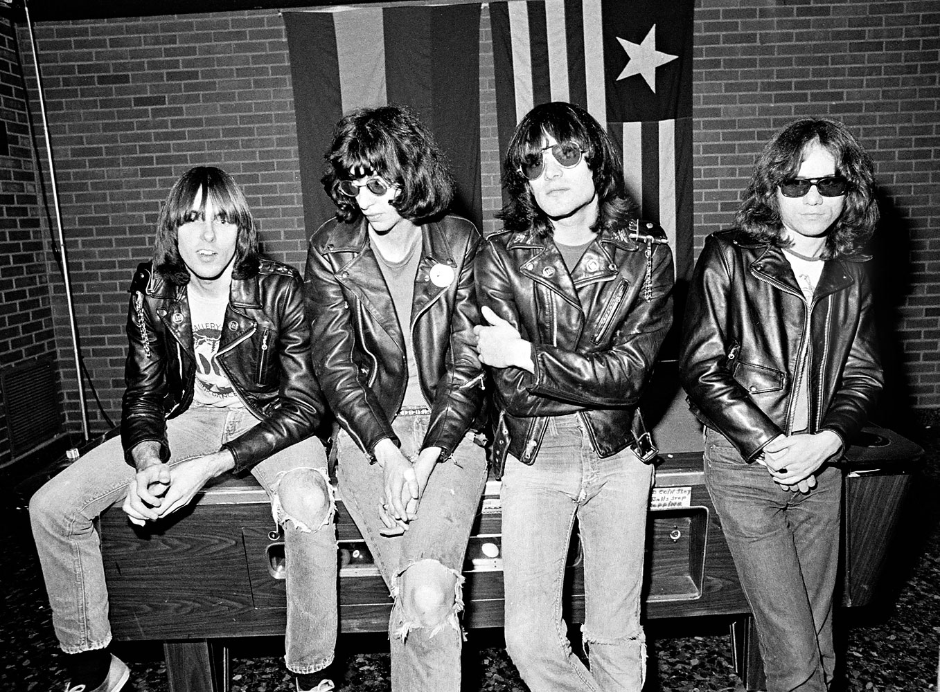 From left to right, Johnny Ramone, Joey Ramone, Dee Dee Ramone, and Tommy Ramone photographed in San Francisco, Jan. 31, 1978.