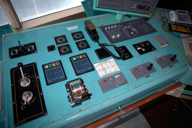 A detail in the interior of Costa Concordia on July 21, 2014 in Giglio Porto, Italy.