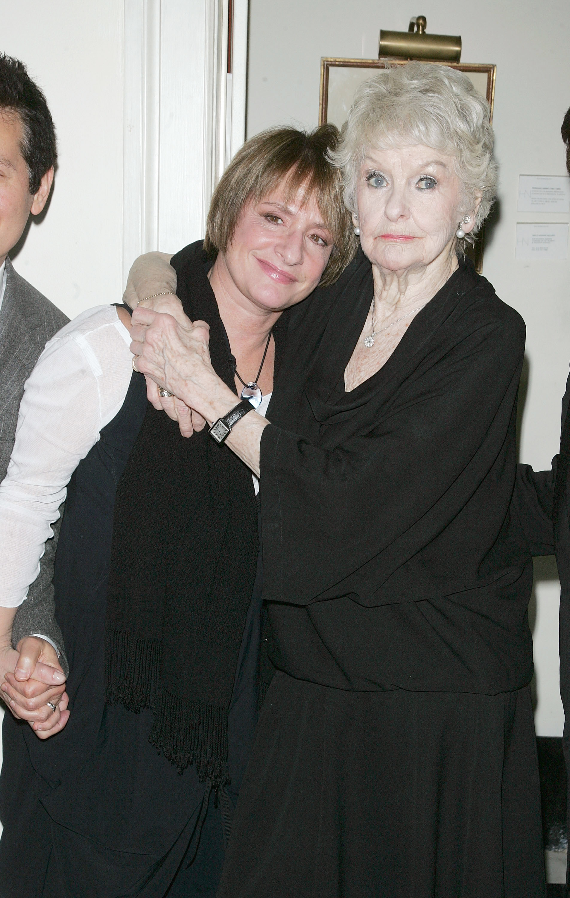Patti LuPone and Elaine Stritch attend  the final night of  At Home At The Carlyle: Elaine Stritch Singin' Sondheim...One Song At A Time  at the Cafe Carlyle on February 2, 2010 in New York City. Elaine also celebrated her 85th Birthday on the final performance of her cabaret show.
