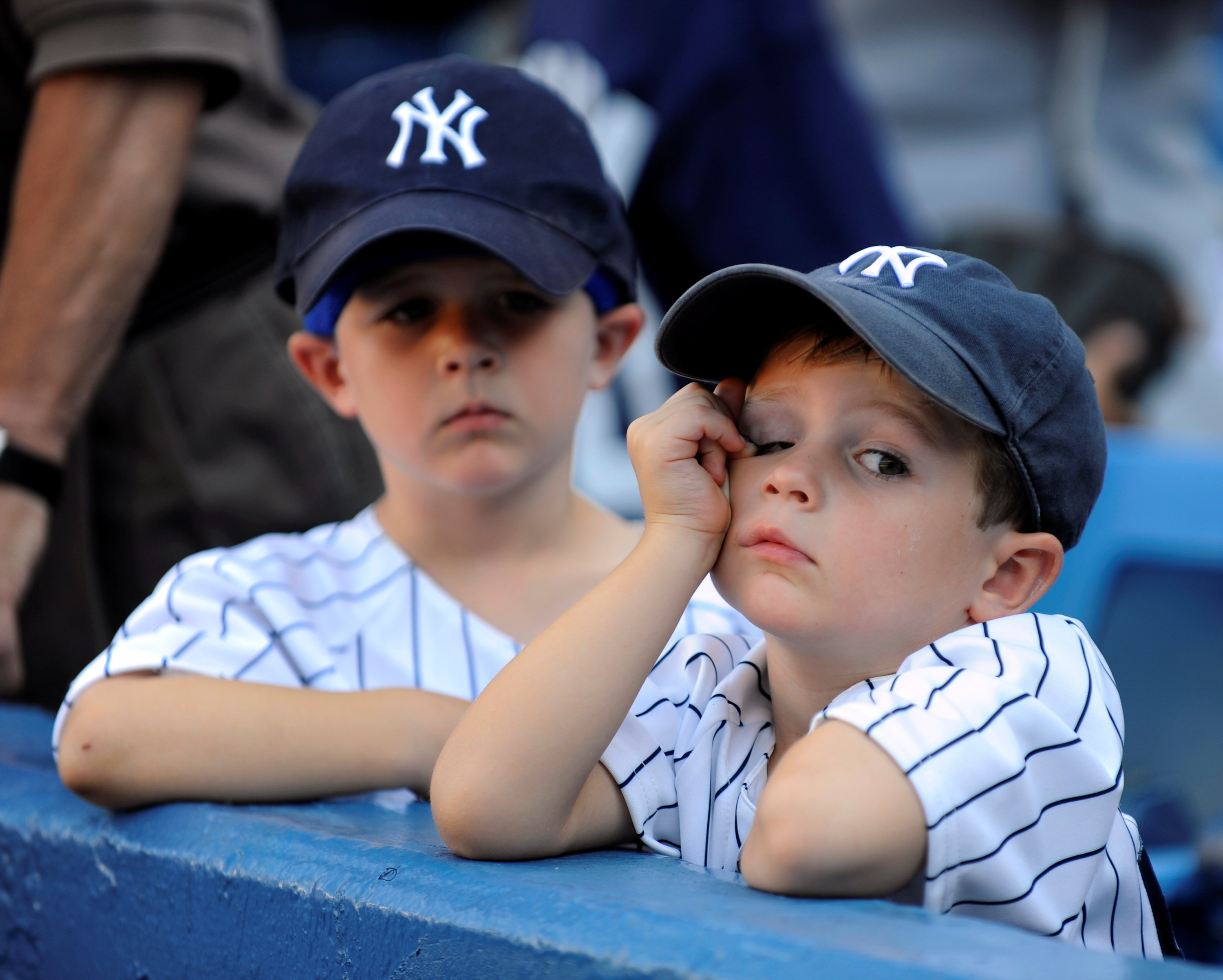 N.Y.Yankees vs Toronto Blue Jays at Yankee Stadium., Yankee fans are unhappy and concerned as they lose another game and the hopes of a post-season slip away.