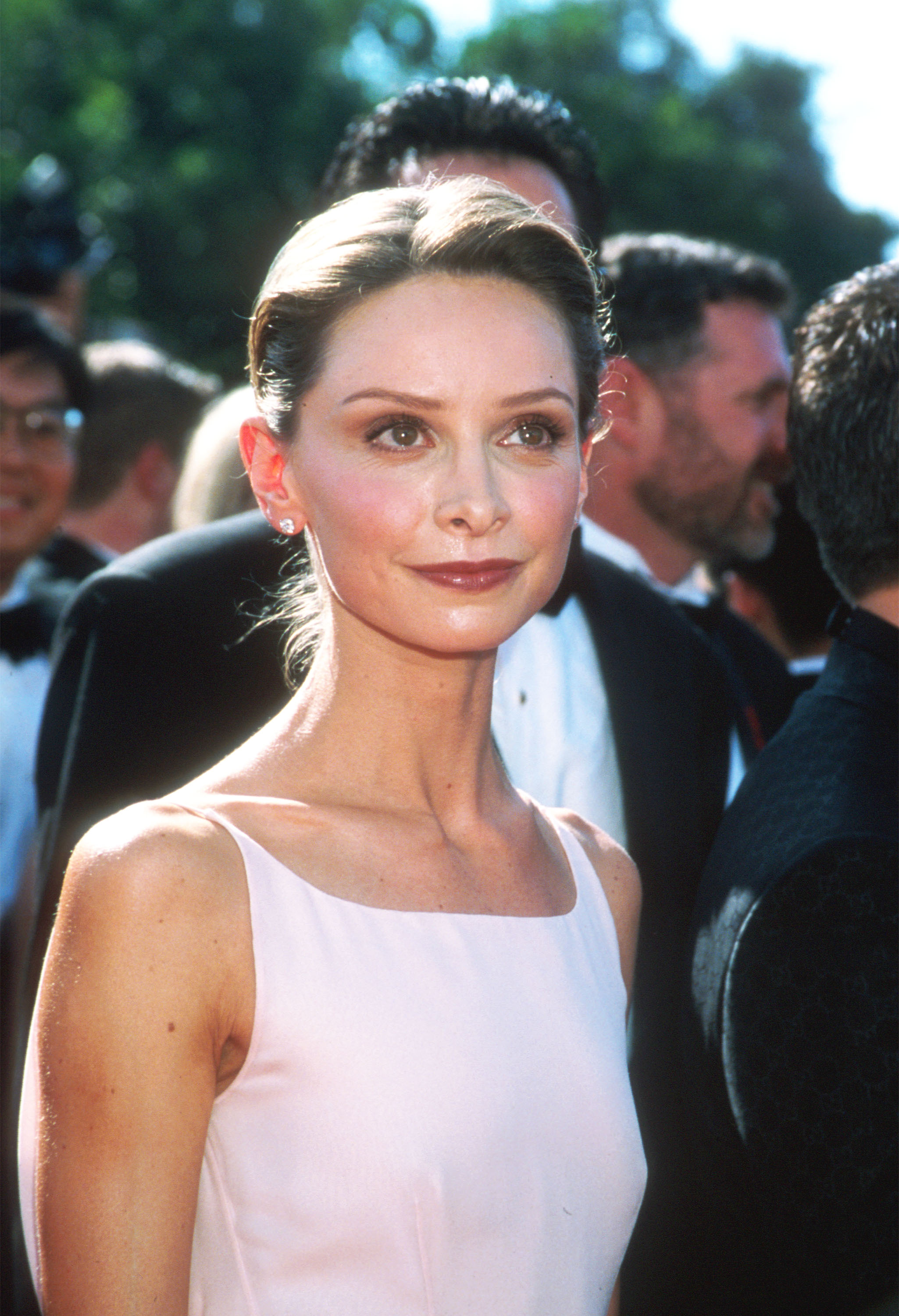 Actress Calista Flockhart arrives at the 1998 Emmy Awards in Los Angeles, CA on September 13, 1998.
