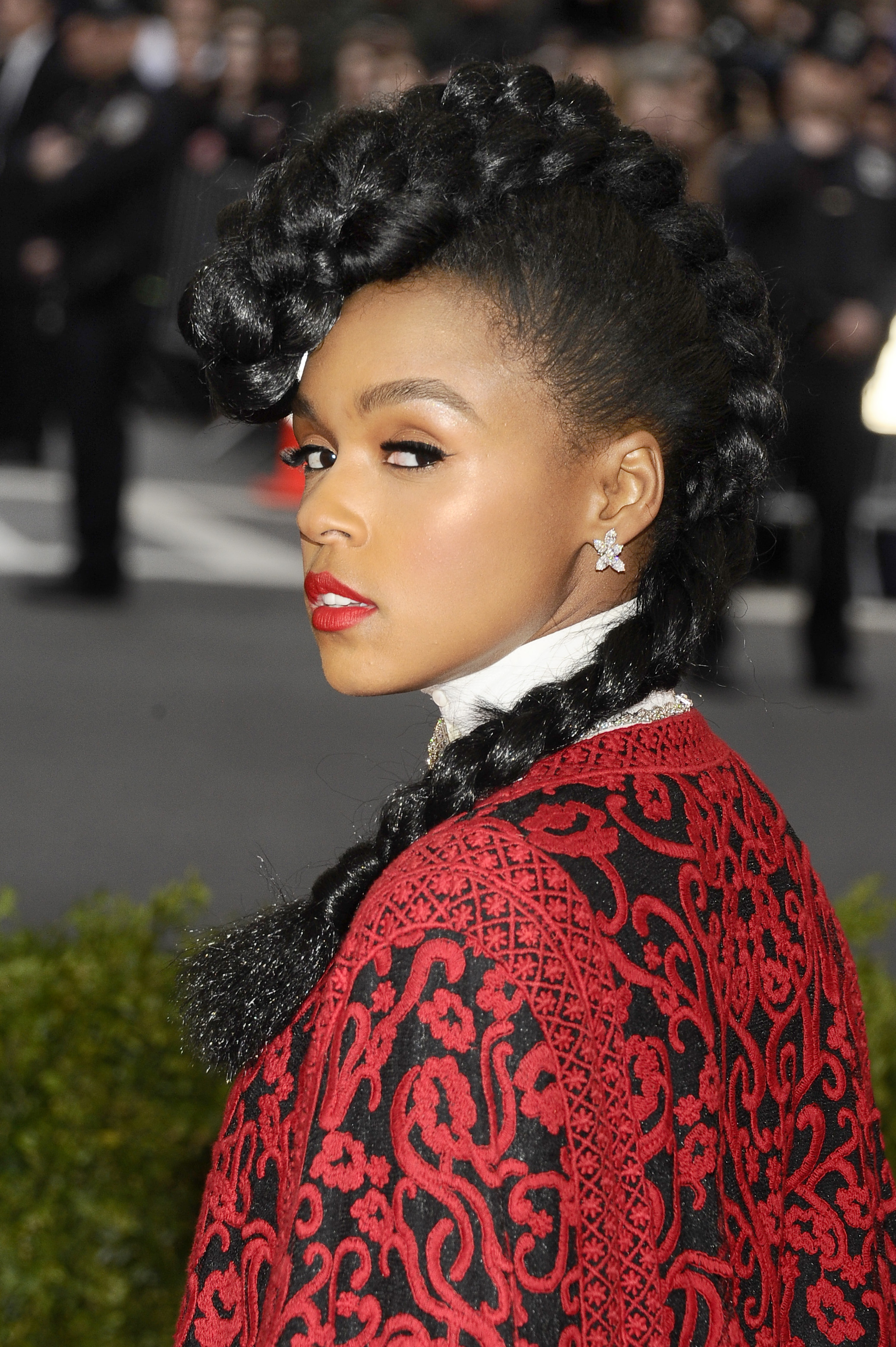 Janelle Monae attends The Metropolitan Museum of Art's Costume Institute benefit gala celebrating  Charles James: Beyond Fashion  on Monday, May 5, 2014, in New York.