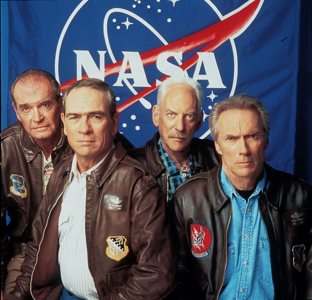 From Left: James Garner, Tommy Lee Jones, Donald Sutherland and Clint Eastwood pose for Warner Brothers Pictures' Space Cowboys in this July 2000 file photo.