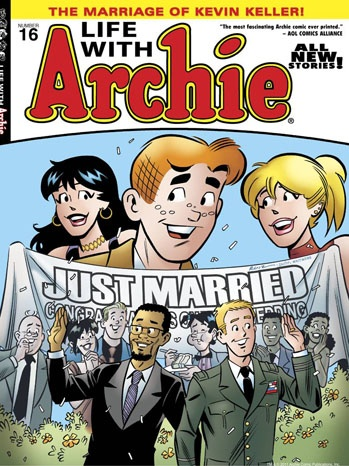In an installment of Life With Archie first published in 2012, the franchise tackled the issue of gay marriage head on — by putting it on the cover.