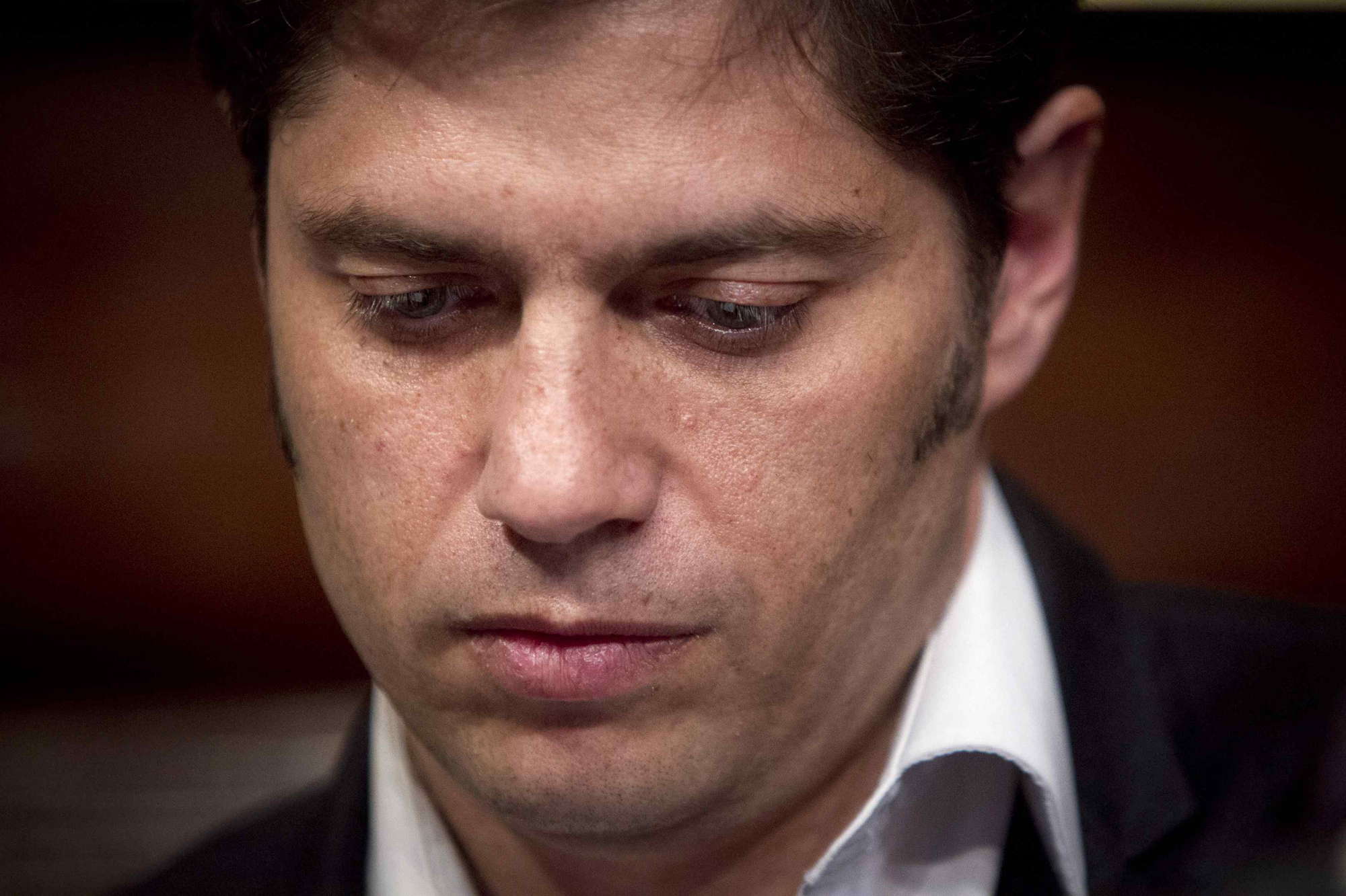 Argentina's Economy Minister Axel Kicillof speaks to the media at a press conference at the Argentine Consulate in New York, July 30, 2014.