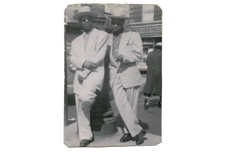 Leroy Sanders and friend, Brooklyn, c. 1950s