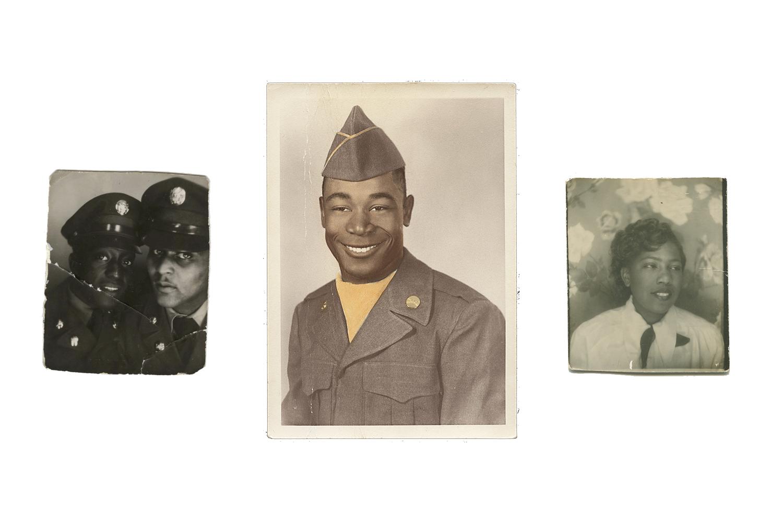 Snapshot of Soldiers, N.D. —    Asbury Sanders, N.D. —  260 Ralph Avenue, Brooklyn, N.D.