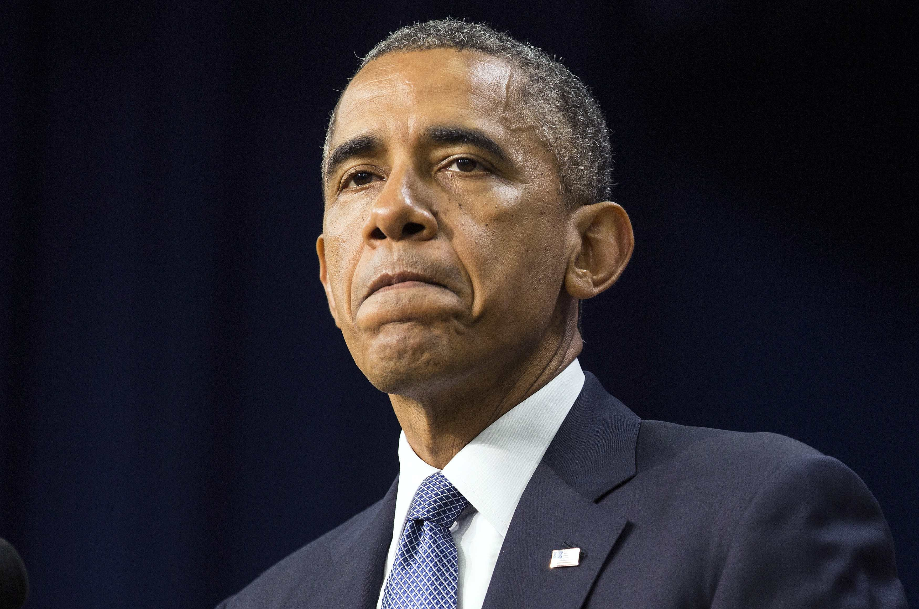 U.S. President Barack Obama before signing the Workforce Innovation and Opportunity Act at the White House in Washington on July 22, 2014.