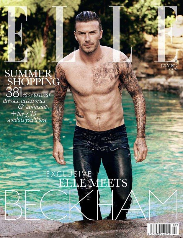 David Beckham on the cover of Elle UK