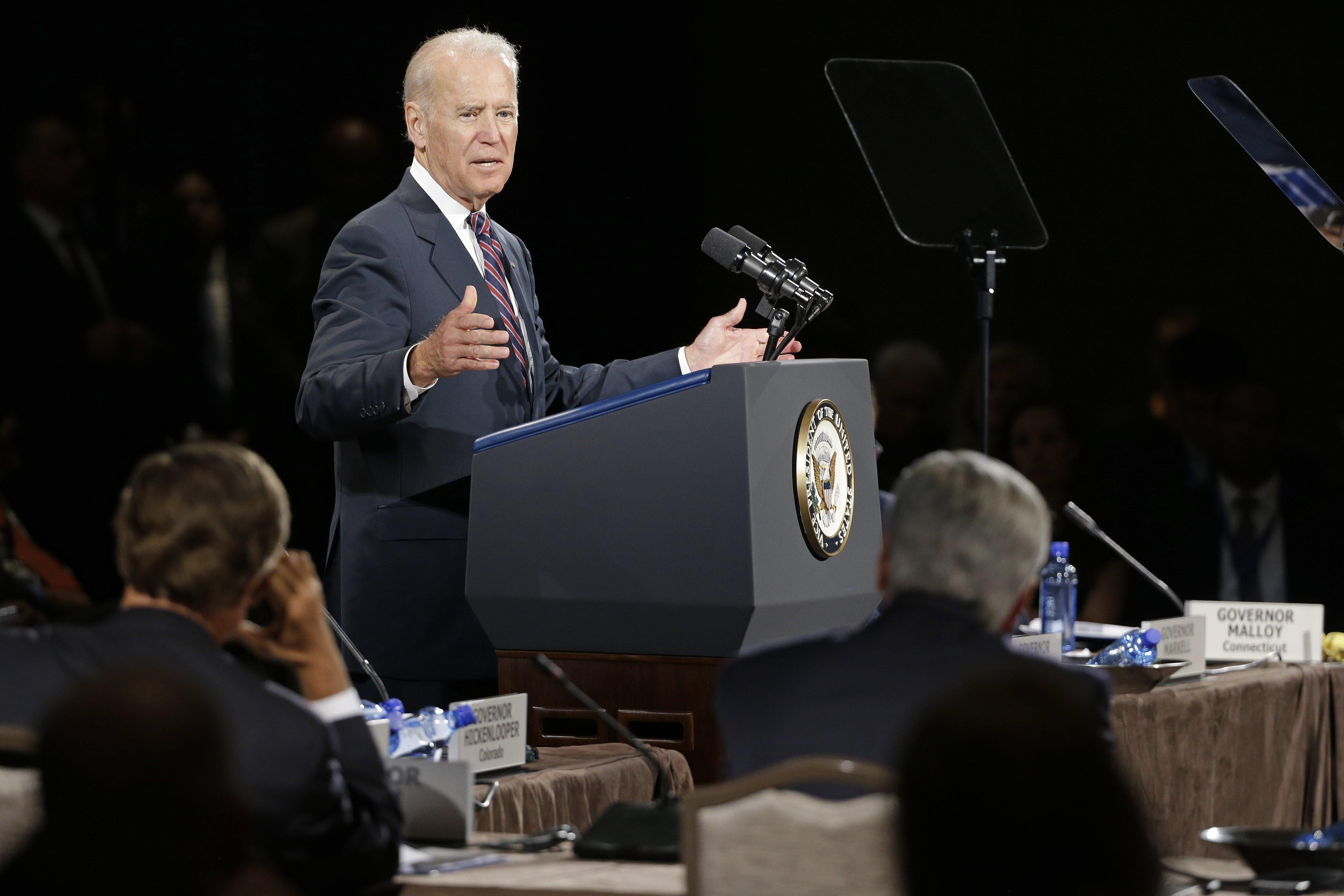 Vice President Joe Biden speaks at the National Governors Association convention on  July 11, 2014, in Nashville, Tenn.