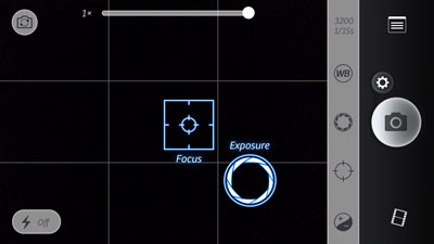 The app for iOS lets you set and lock focus manually.