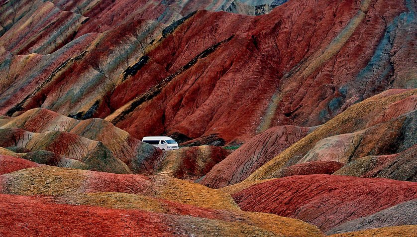 China Danxia Zhangye Red Mountains