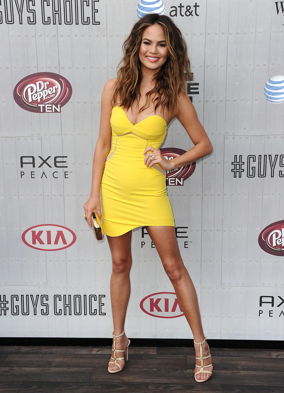 Chrissy Teigen attends Spike TV's  Guys Choice  Awards on June 7 in Los Angeles, California.