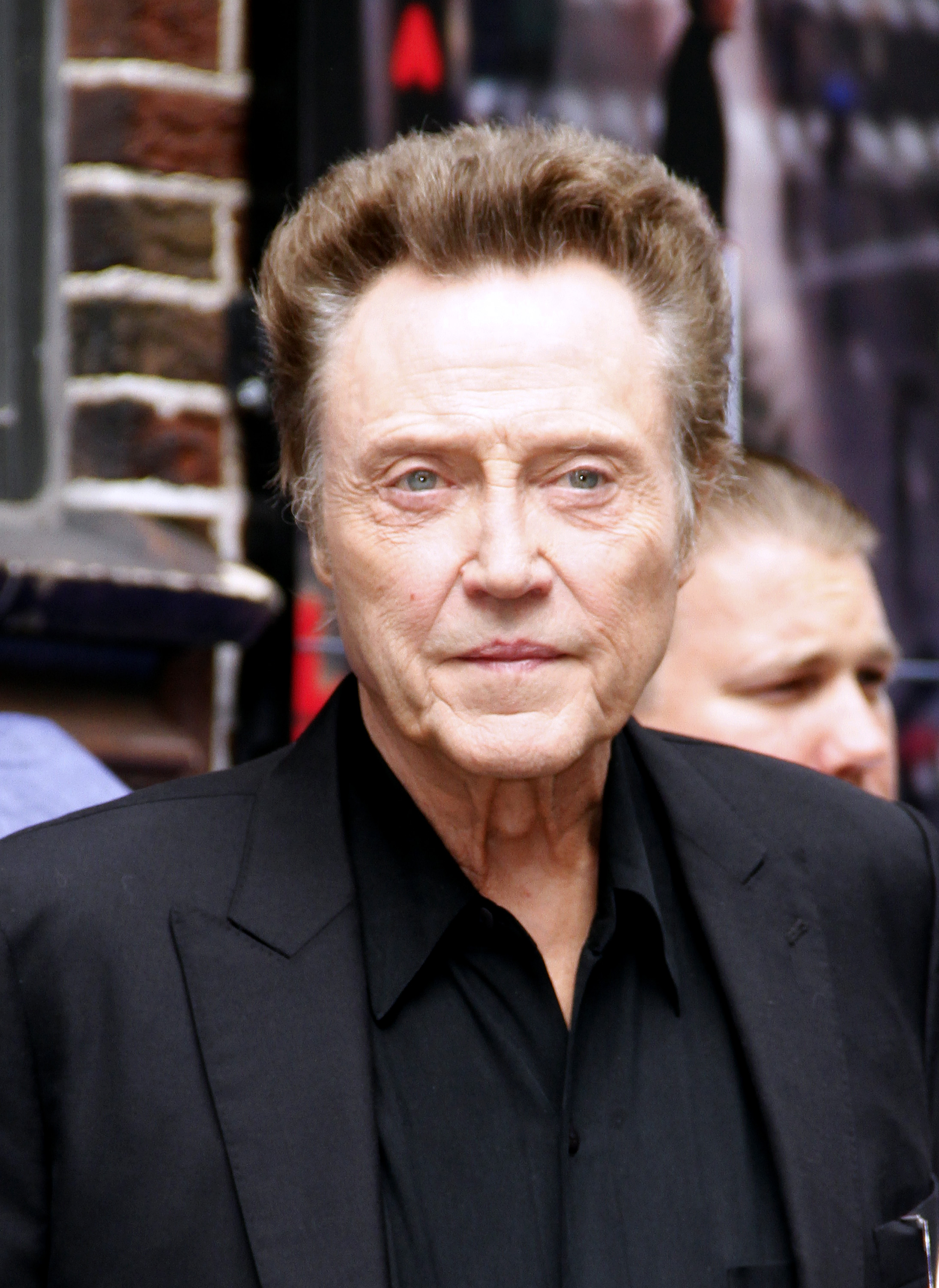 Christopher Walken leaves the  Late Show with David Letterman  at Ed Sullivan Theater on June 11, 2014 in New York City.