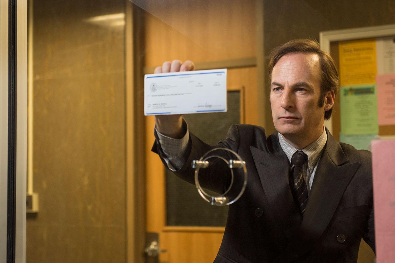 Bob Odenkirk as Saul Goodman in Season 1, Episode 1 of AMC's upcoming series Better Call Saul.
