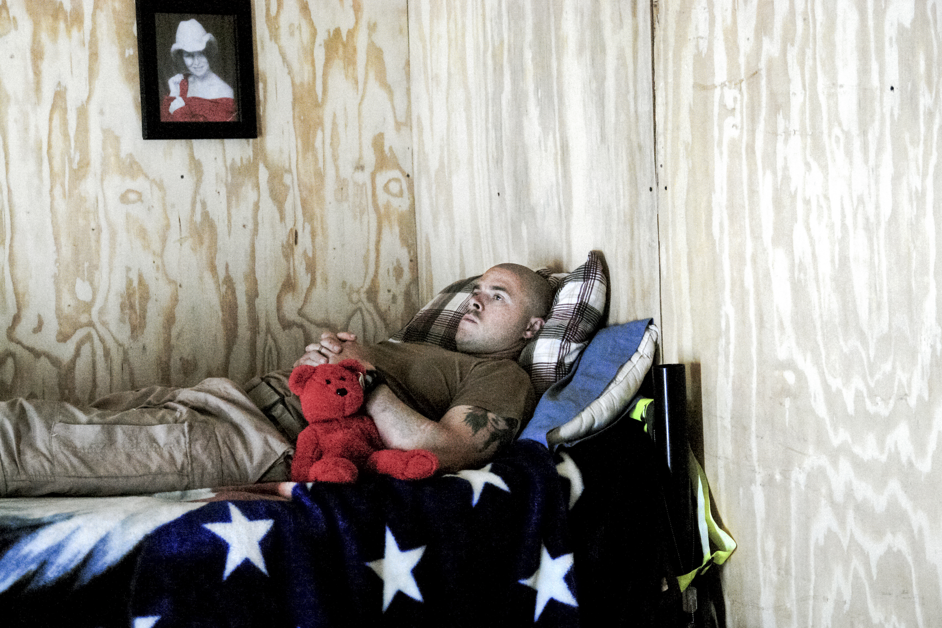 A flight medic rests and watches TV while waiting for a mission in the medevac section of FOB Falcon.                                 The medevacs are usually off the ground within ten minutes of an emergency call coming in. Their quick reaction time to injuries is a large part of the reason the 95% of American soldiers that make it to the hospital end up surviving their wounds.