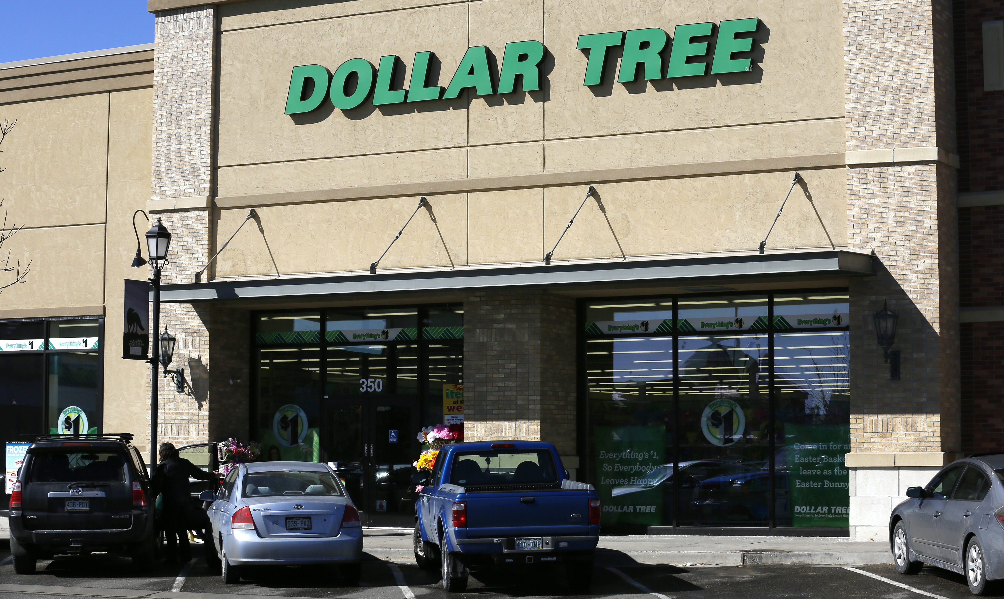 The exterior of a Dollar Tree store in Westminster, Colorado on February 26, 2014.